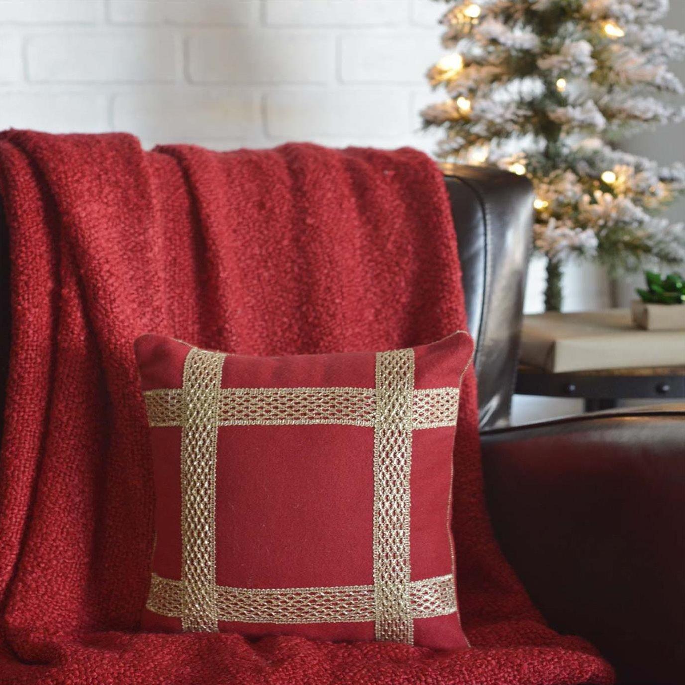 Revelry Trim Pillow 12x12
