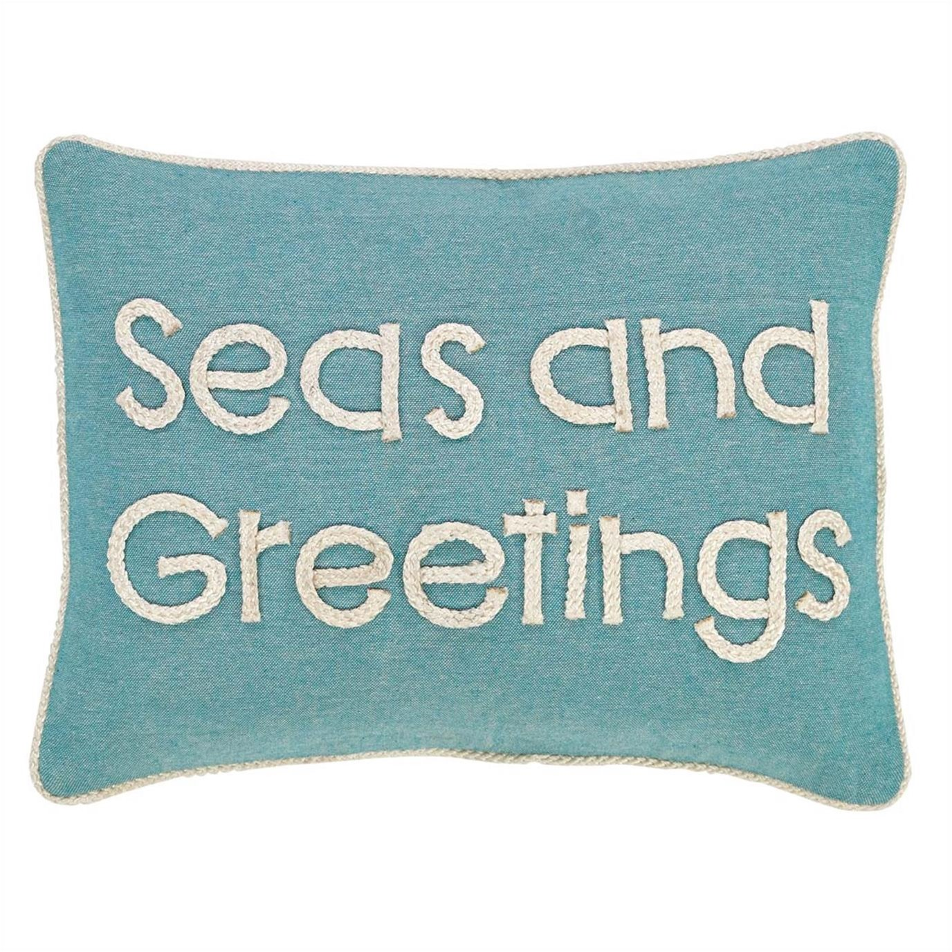 Sanbourne Seas and Greetings Pillow 14x18