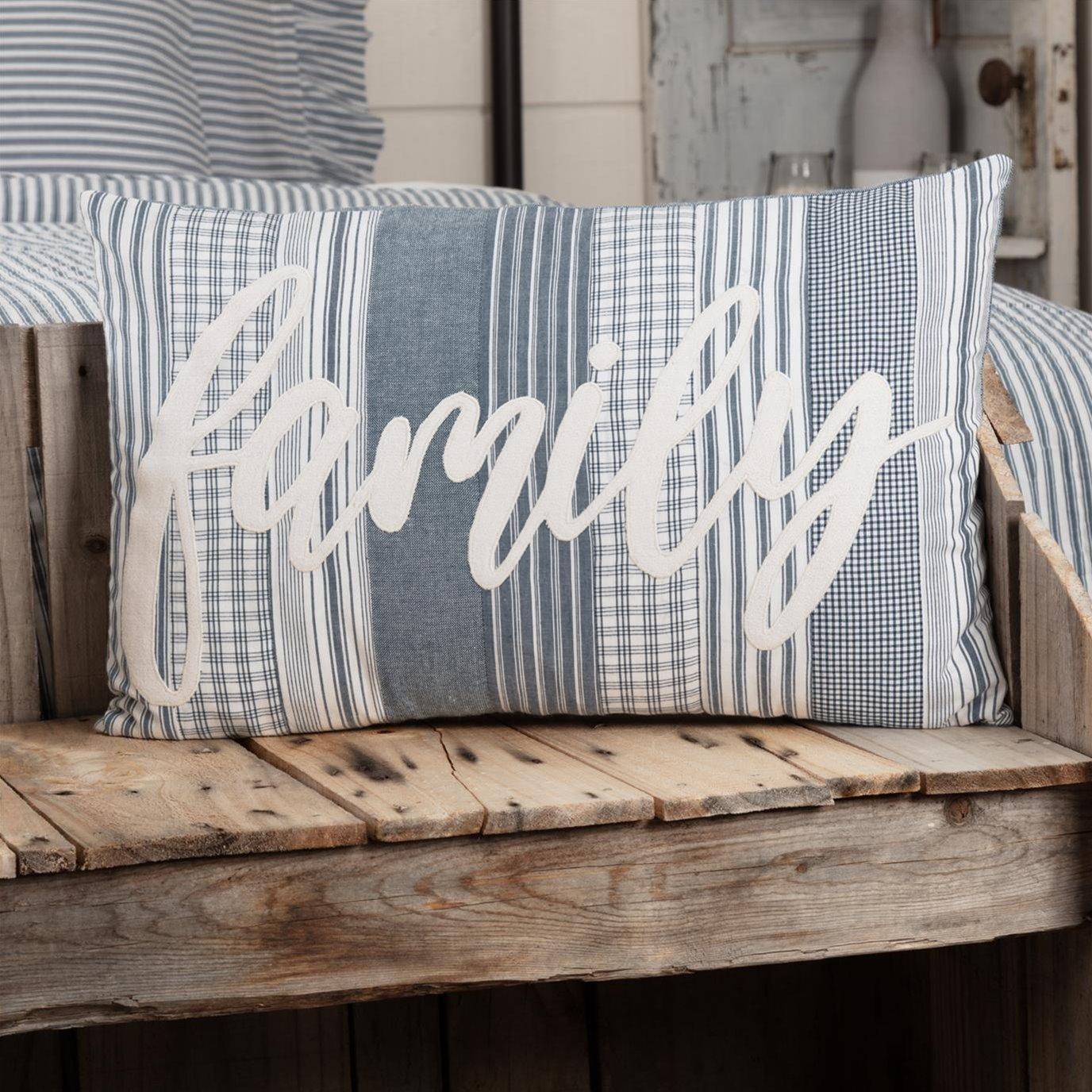 Sawyer Mill Blue Family Pillow 14x22