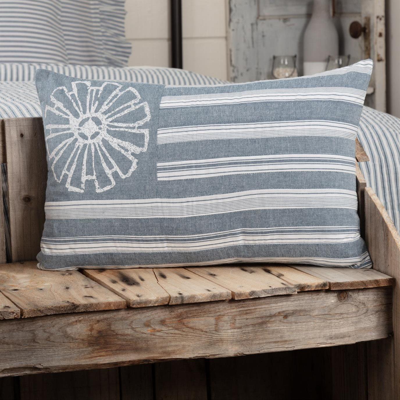 Sawyer Mill Blue Flag Pillow 14x22