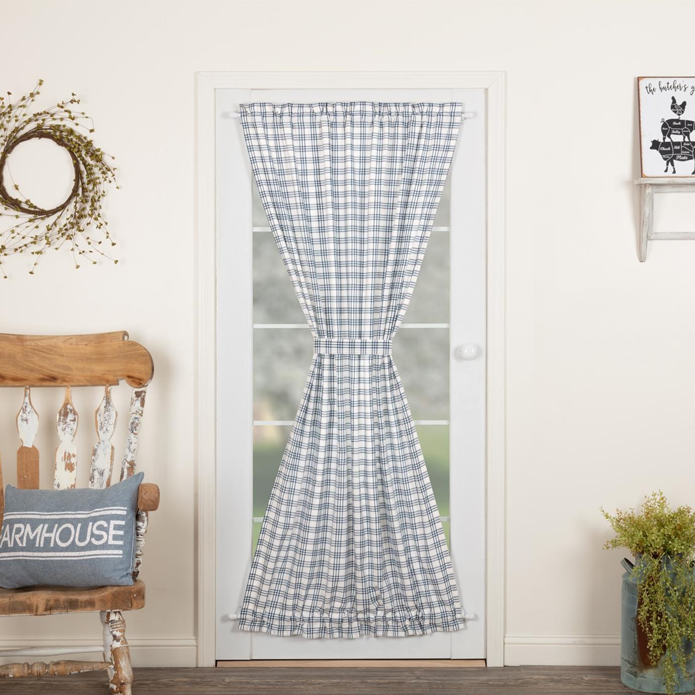 Sawyer Mill Blue Plaid Door Panel 72x40