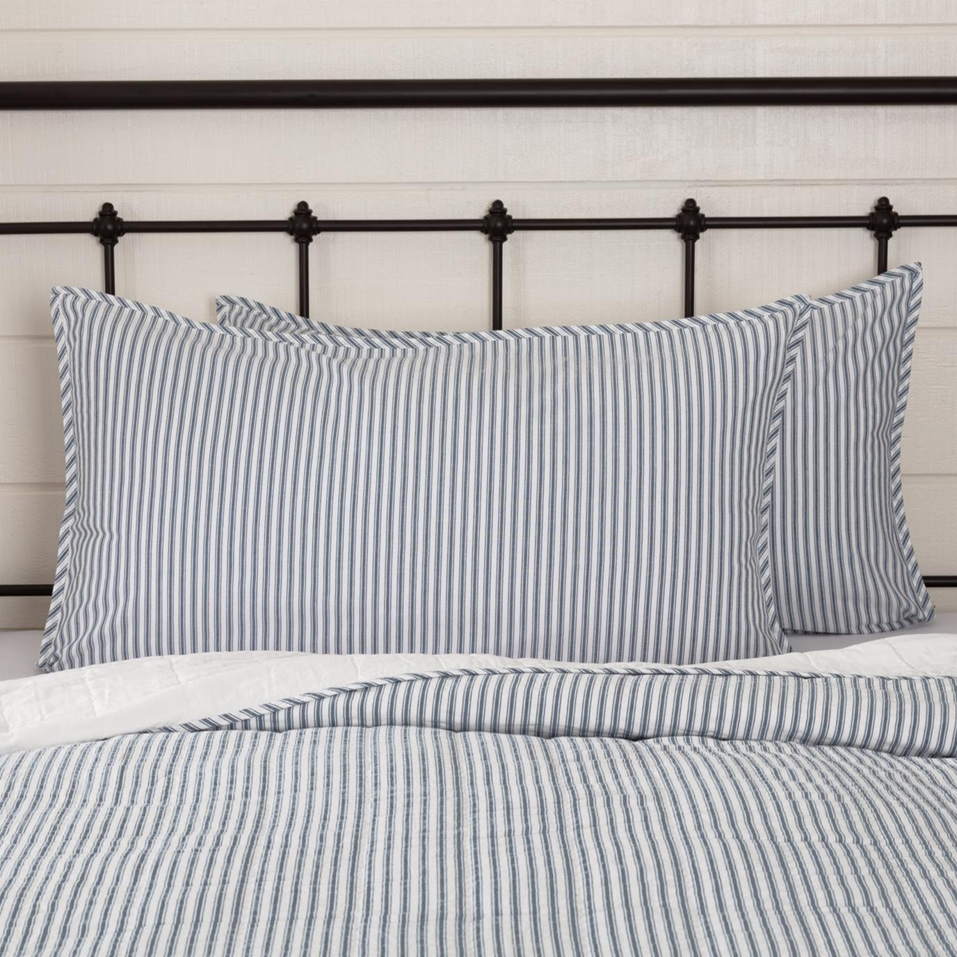 Sawyer Mill Blue Ticking Stripe King Sham 21x37