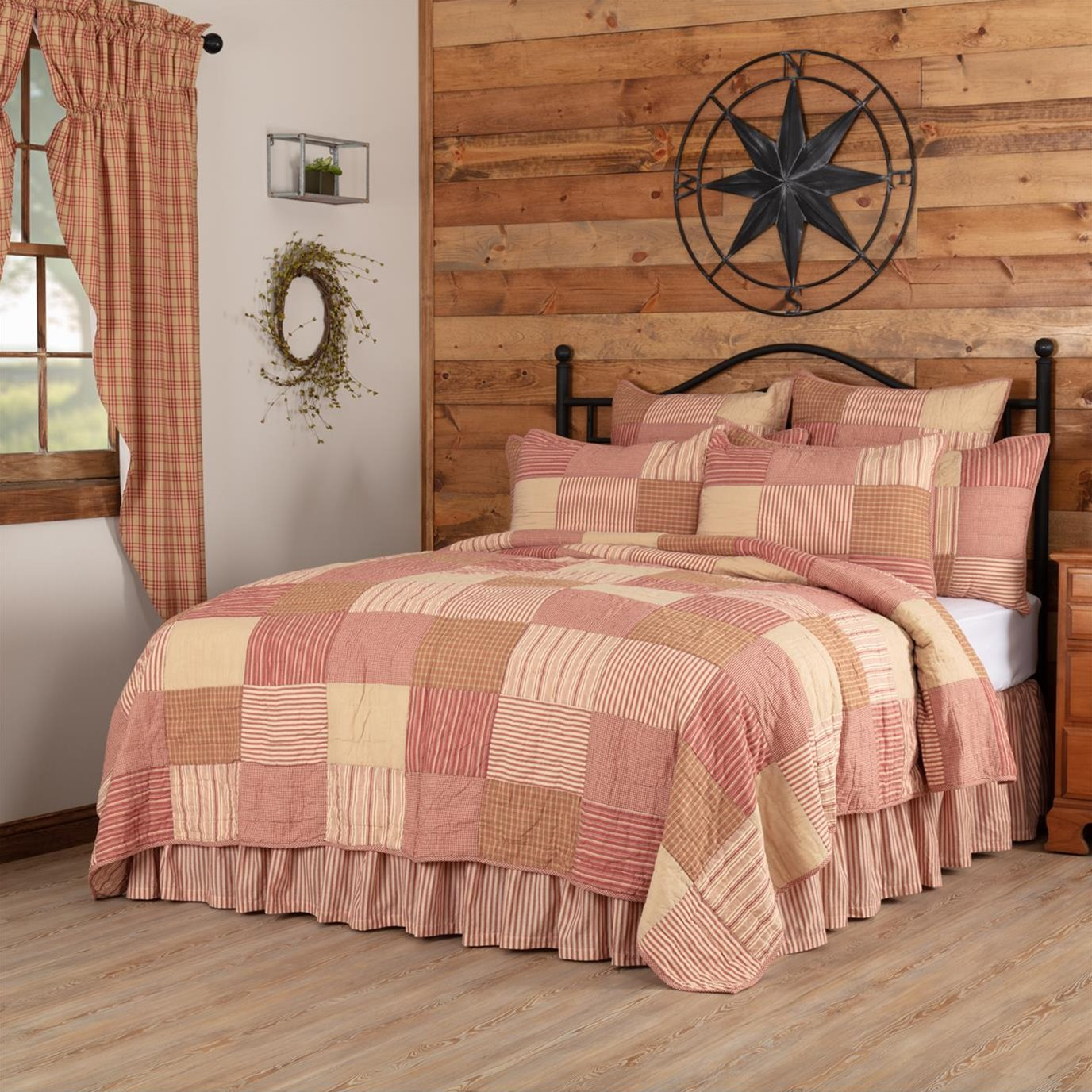 Sawyer Mill Red Luxury King Quilt 120Wx105L