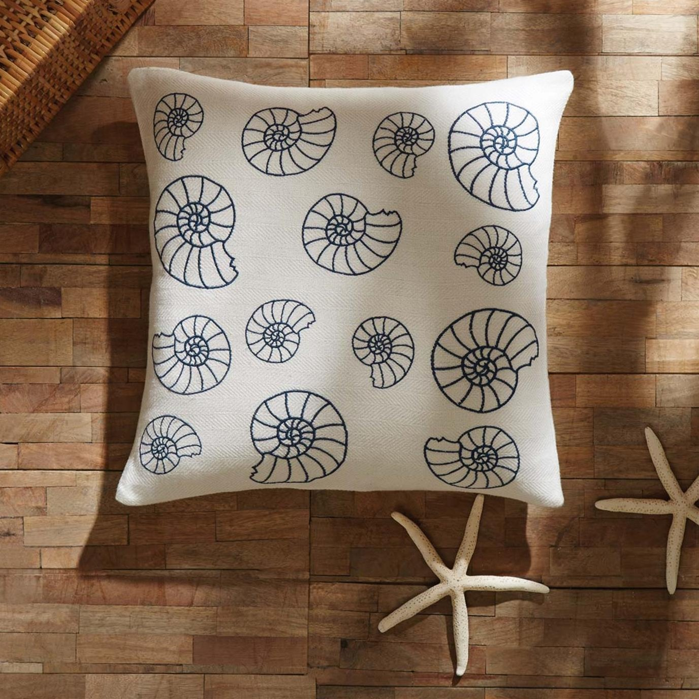 Seashell Enchantment Pillow Cover 18x18