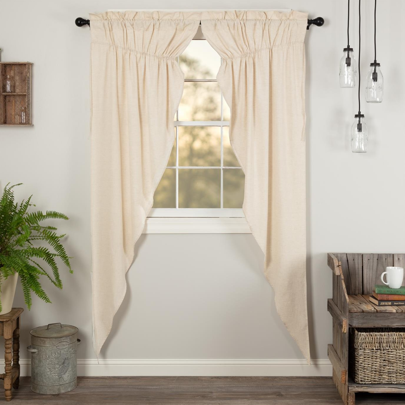 Simple Life Flax Natural Prairie Long Panel Set of 2 84x36x18