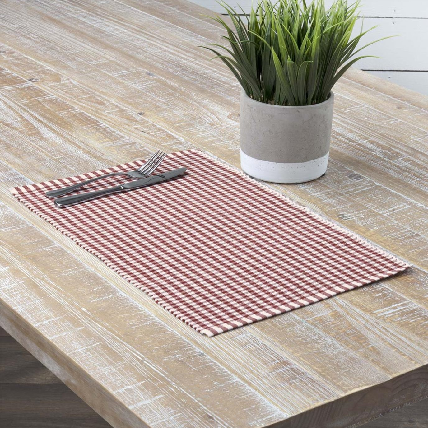 Tara Rust Ribbed Placemat Set of 6 12x18