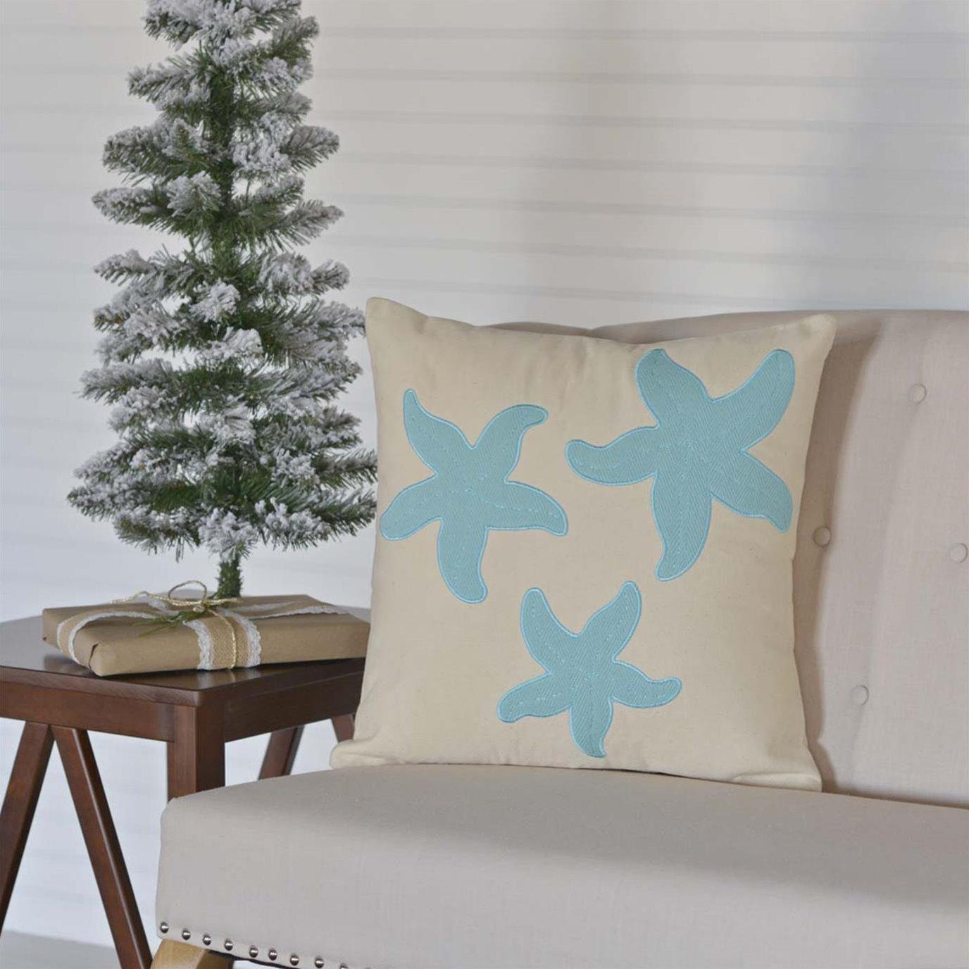 Three Starfish Pillow 18x18