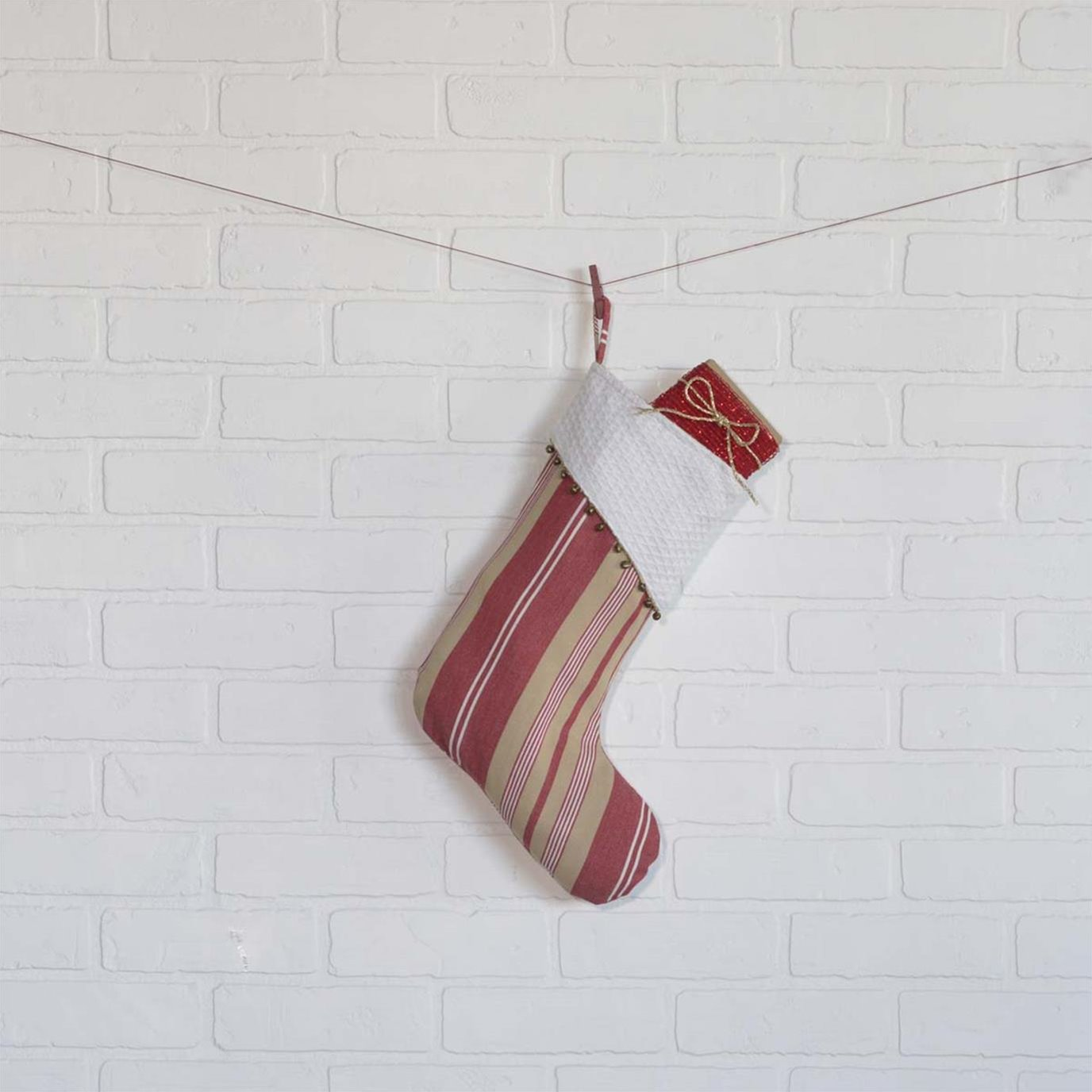 Vintage Stripe Stocking 11x15