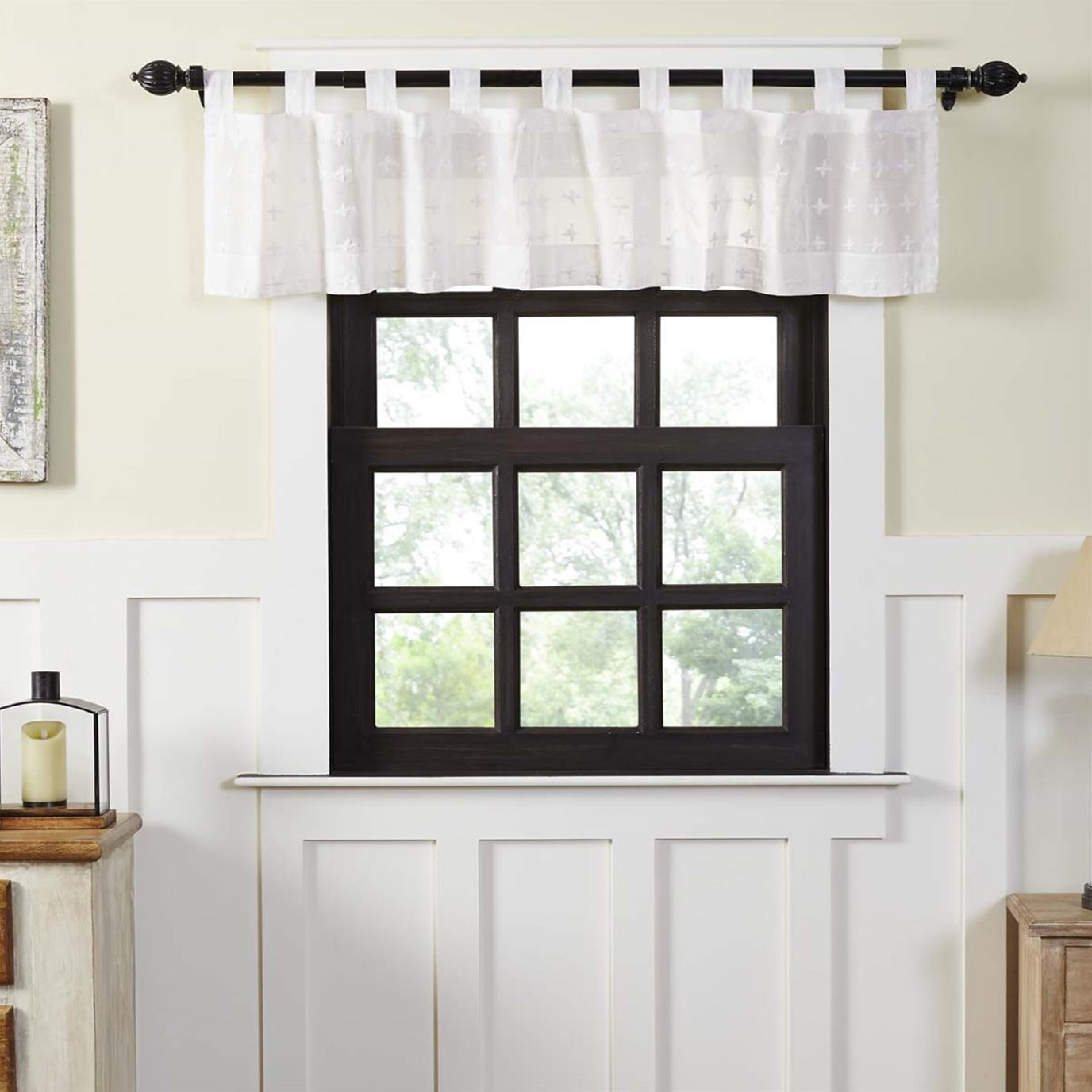 Willow White Tab Top Valance 16x72