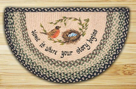 "Robins Nest Braided and Printed Slice Rug 18""x29"""
