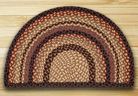 "Black Cherry, Chocolate & Cream Small Rug Slice 18""x29"""