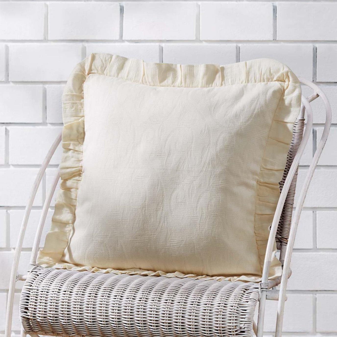 Abigail Ruffle Pillow Cover 18x18