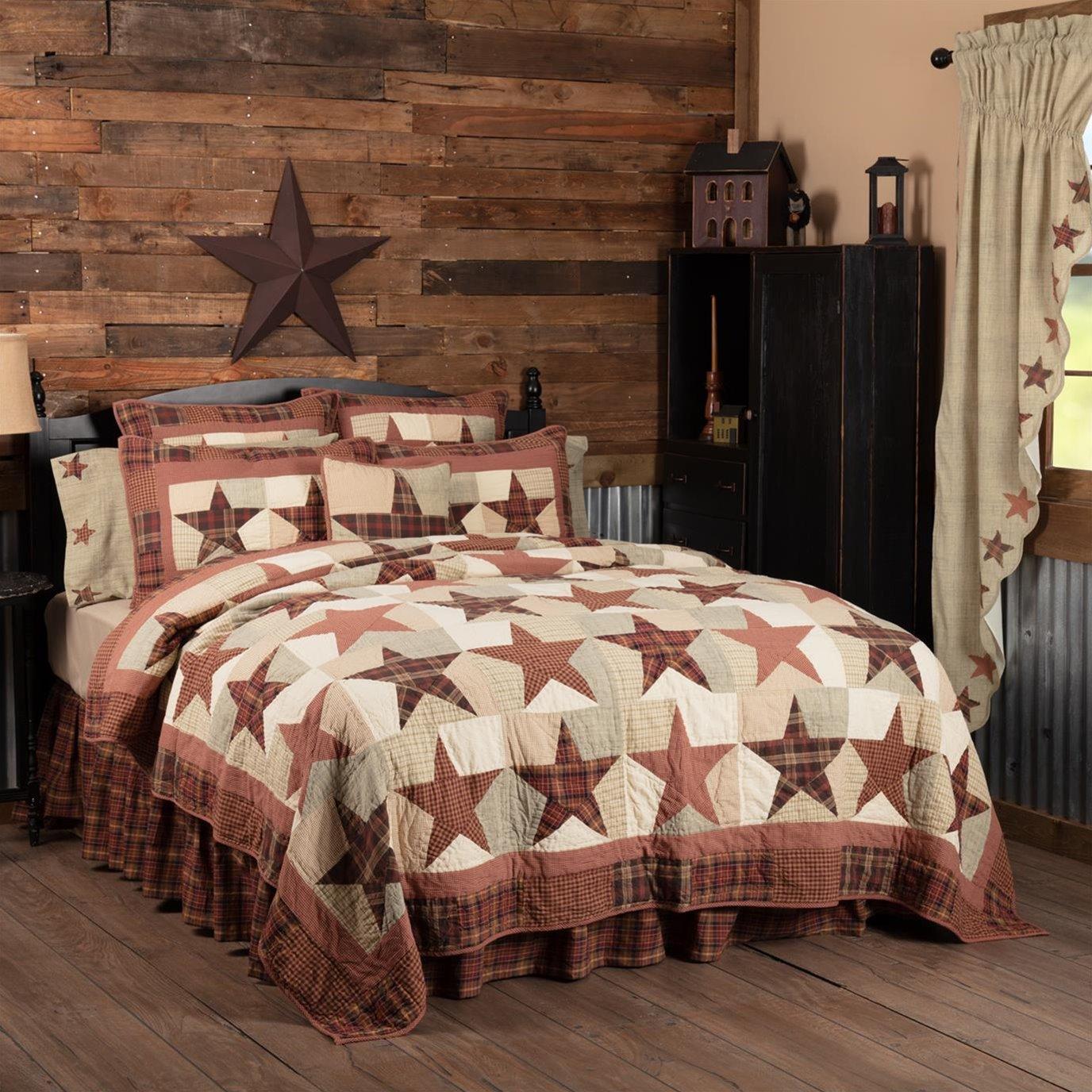 Abilene Star California King Quilt 130Wx115L