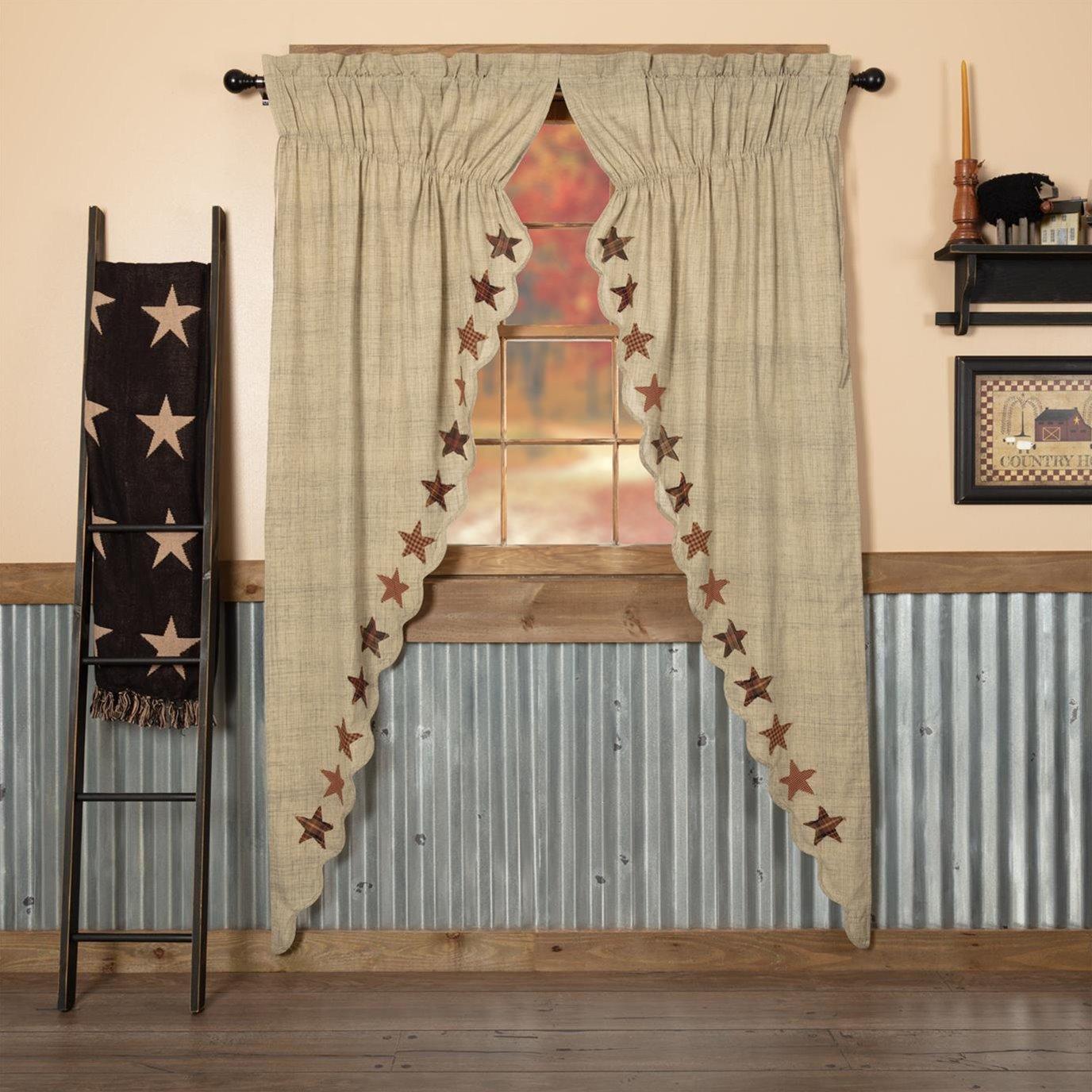 Abilene Star Prairie Long Panel Set of 2 84x36x18