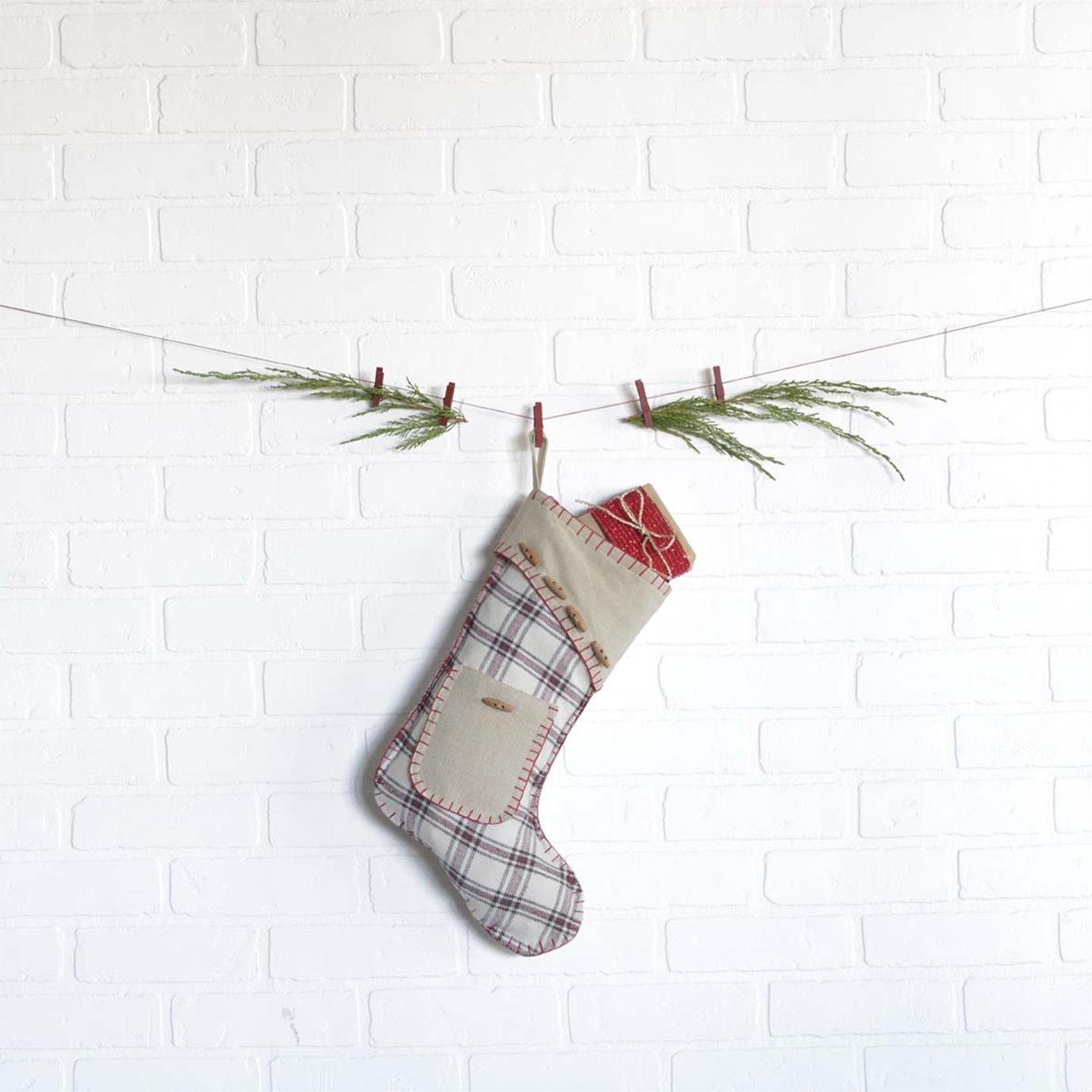 Amory Stocking w/Pocket 11x15
