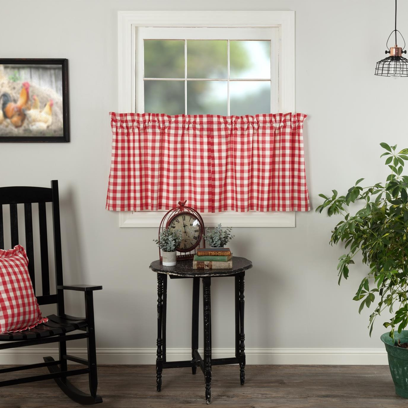 Annie Buffalo Red Check Tier Set of 2 L24xW36