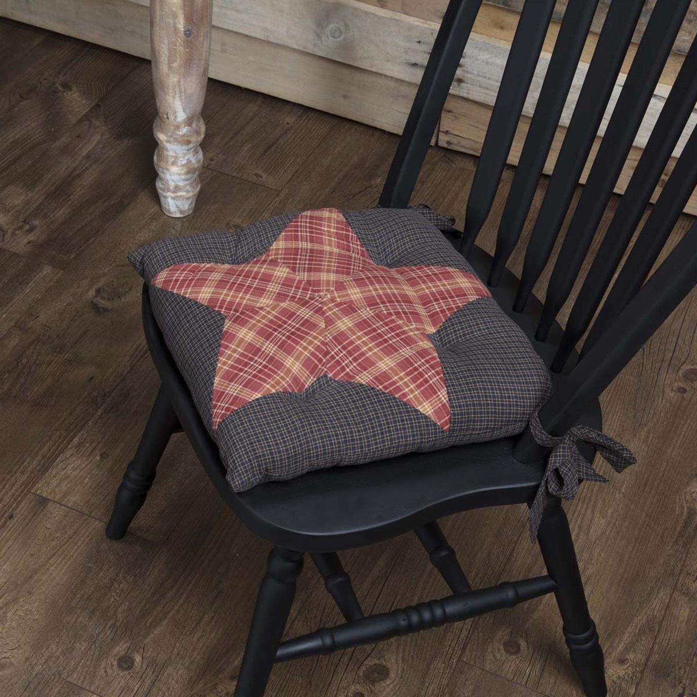 Arlington Chair Pad Patchwork Star