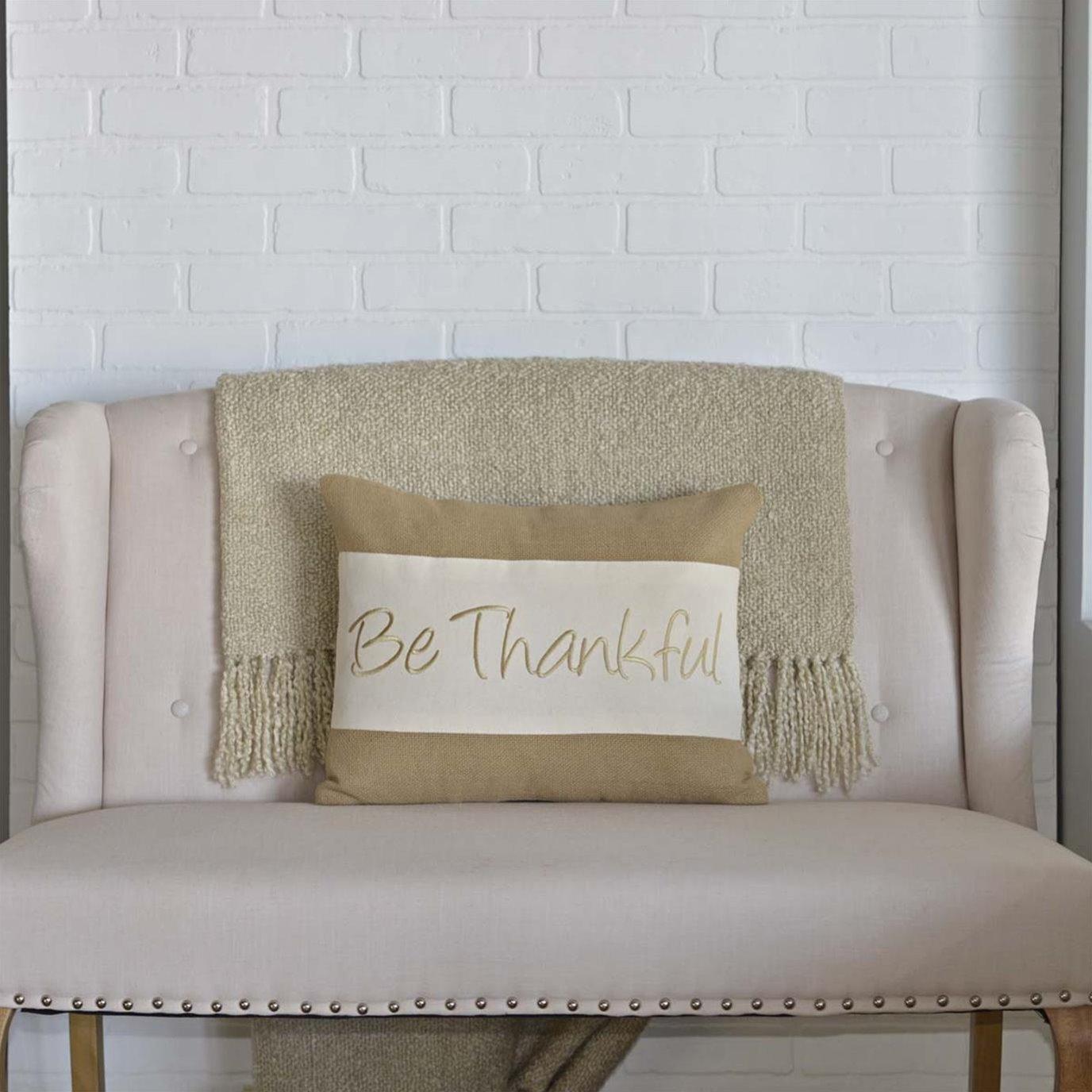Be Thankful Pillow 14x18