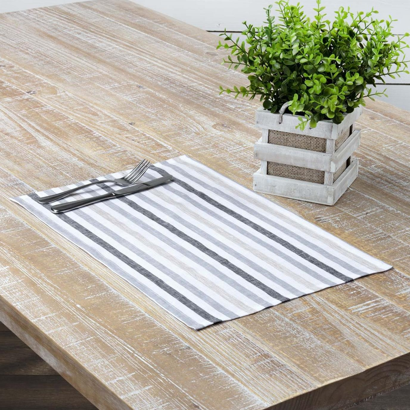 Blake Grey Placemat Set of 6 12x18