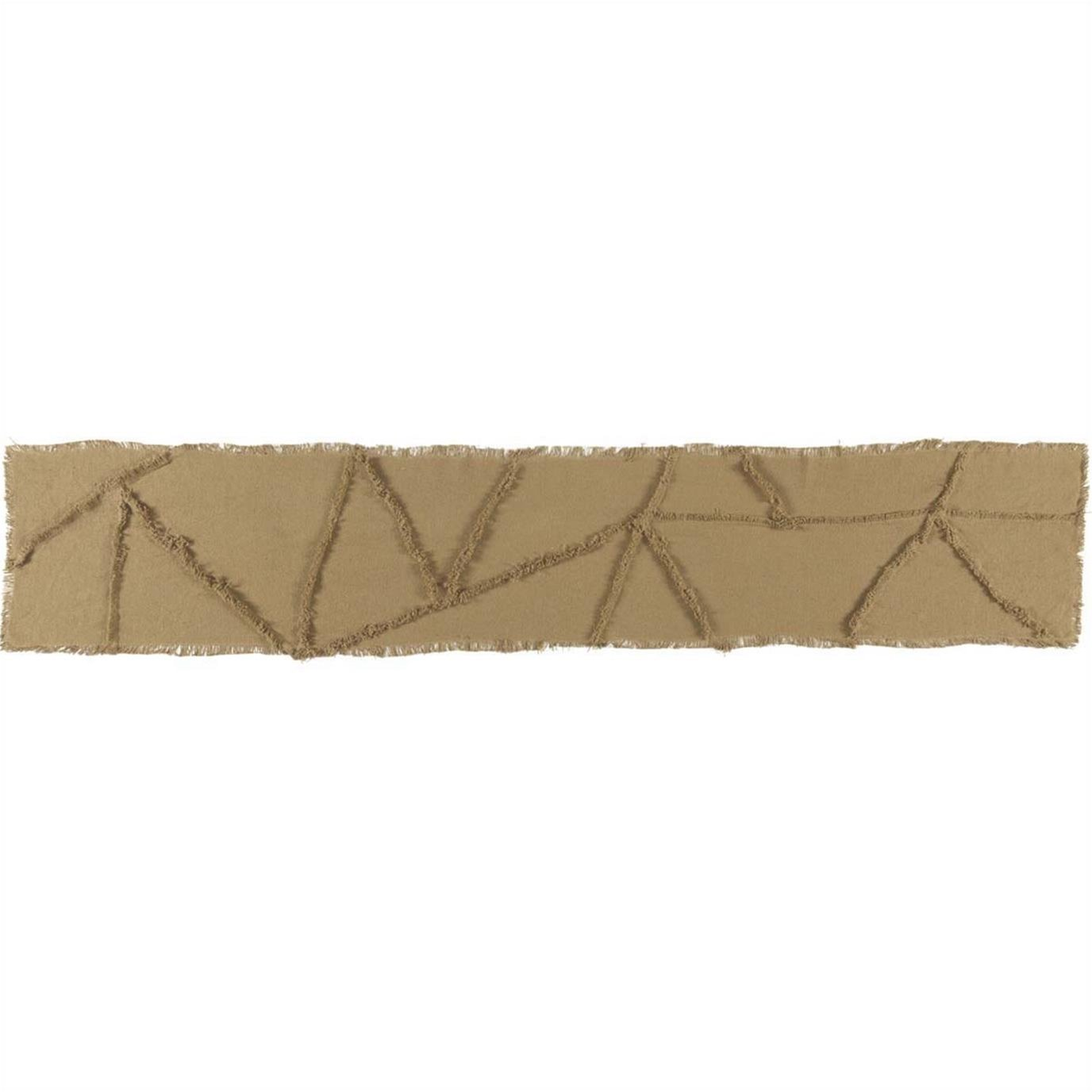 Burlap Natural Reverse Seam Patch Runner 13x72
