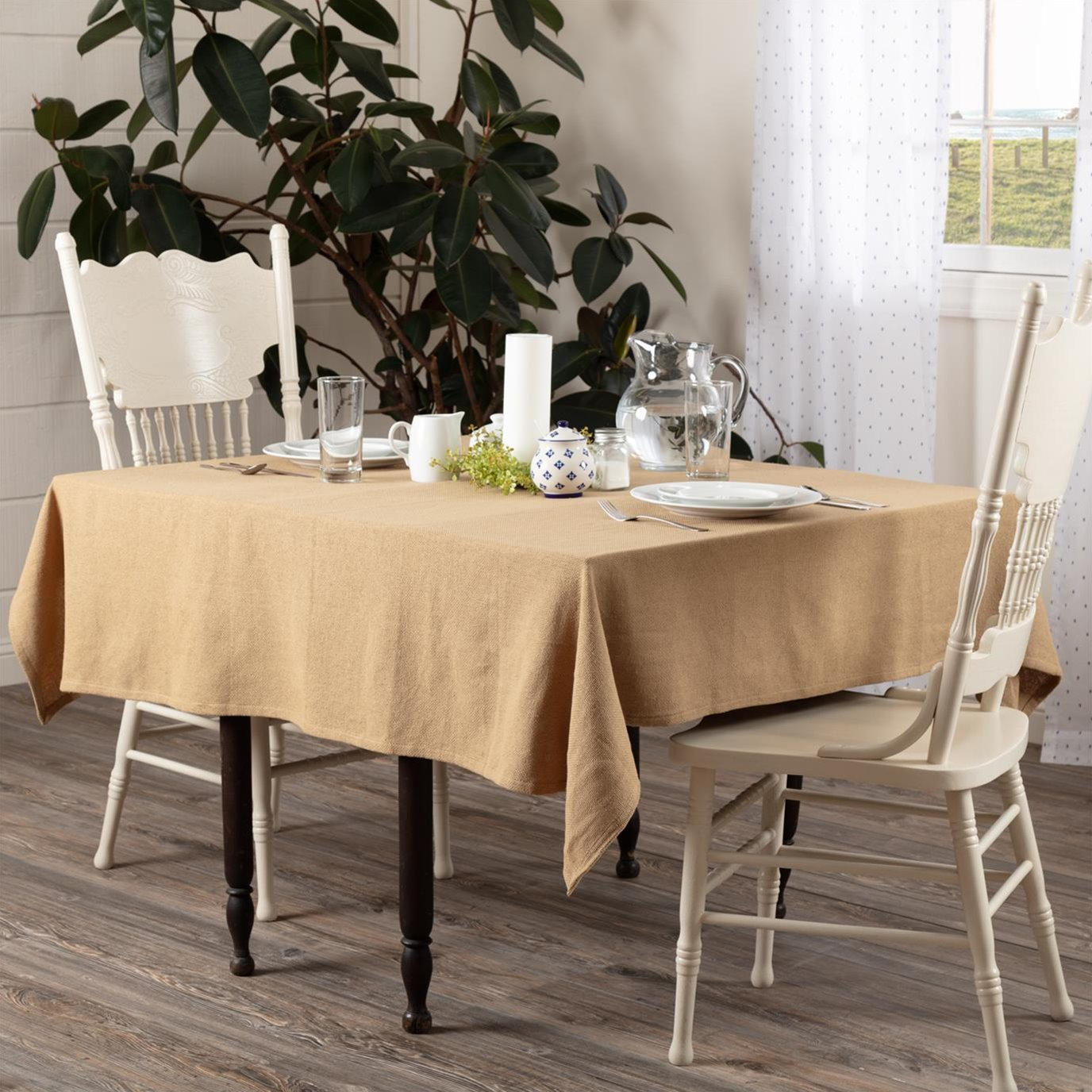 Burlap Natural Table Cloth 60x60