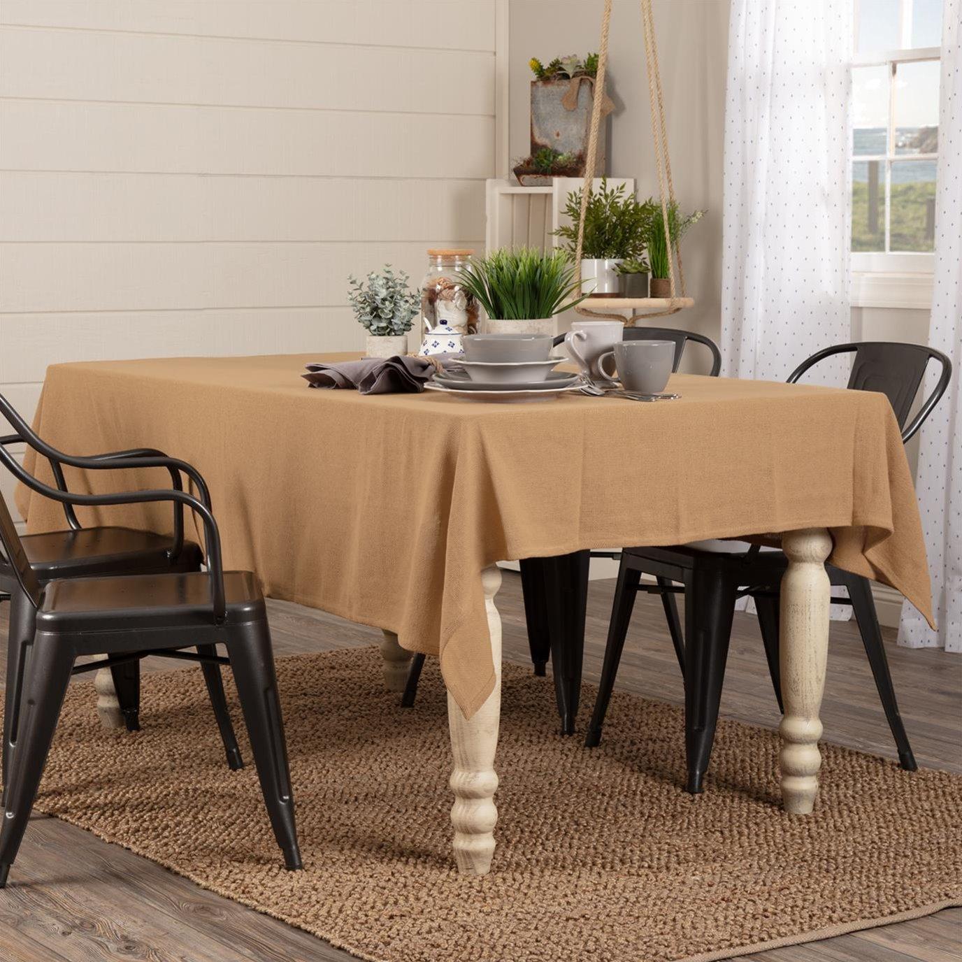 Burlap Natural Table Cloth 60x80