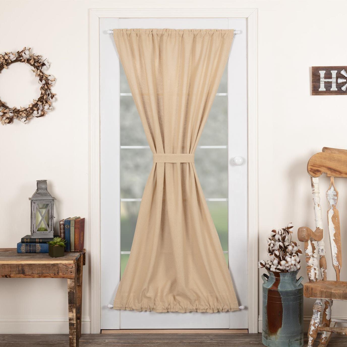 Burlap Vintage Door Panel 72x40