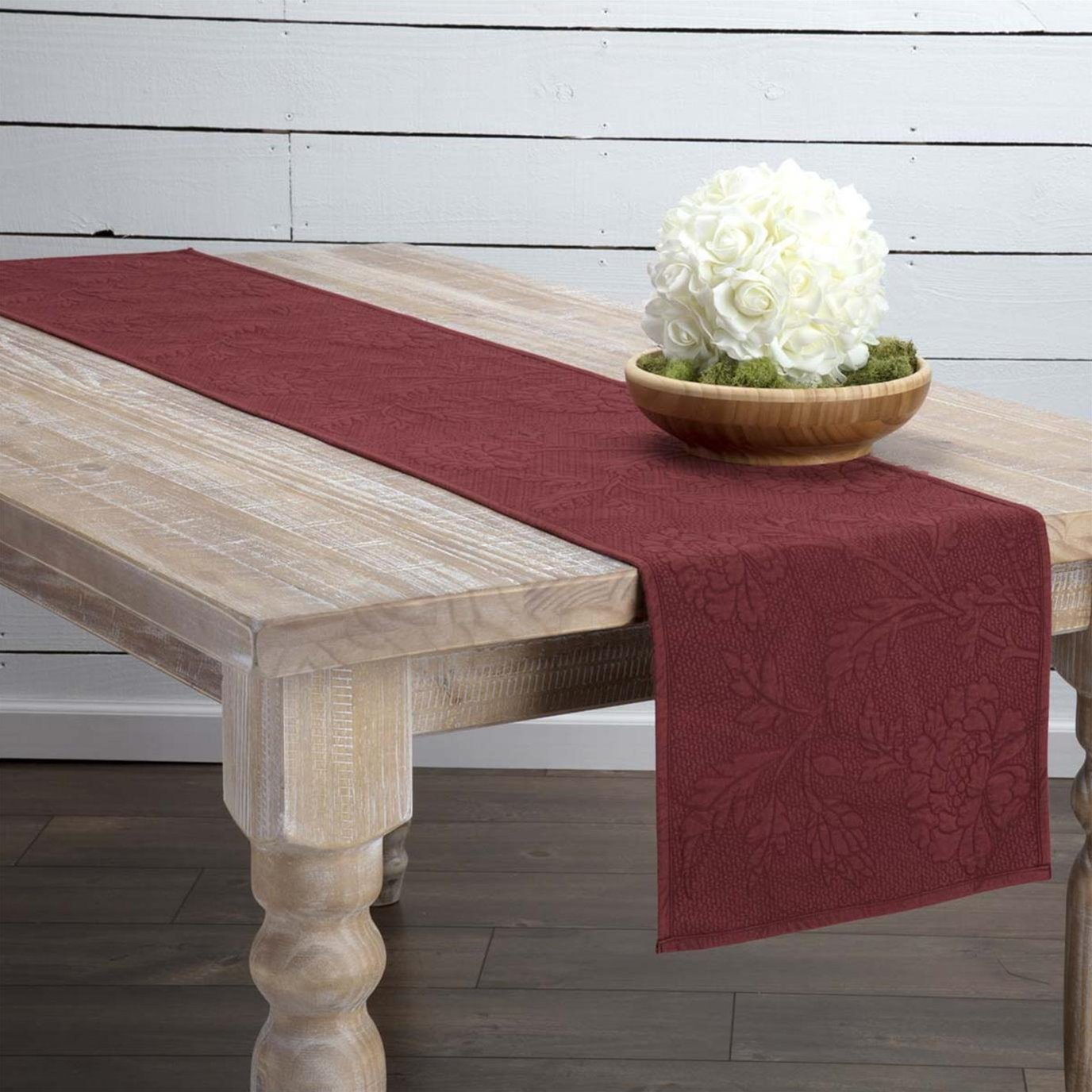 Carly Red Quilted Runner 13x72