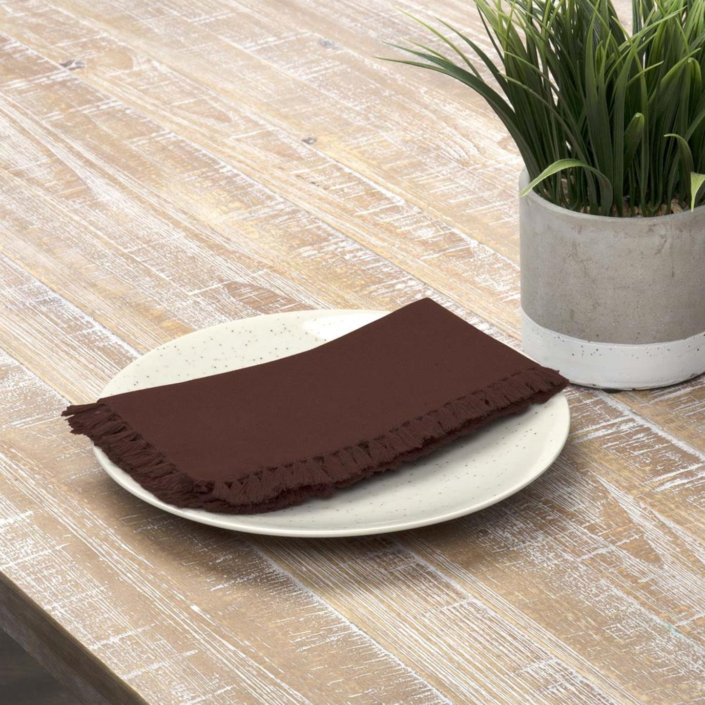 Cassidy Burgundy Napkin Set of 6 18x18