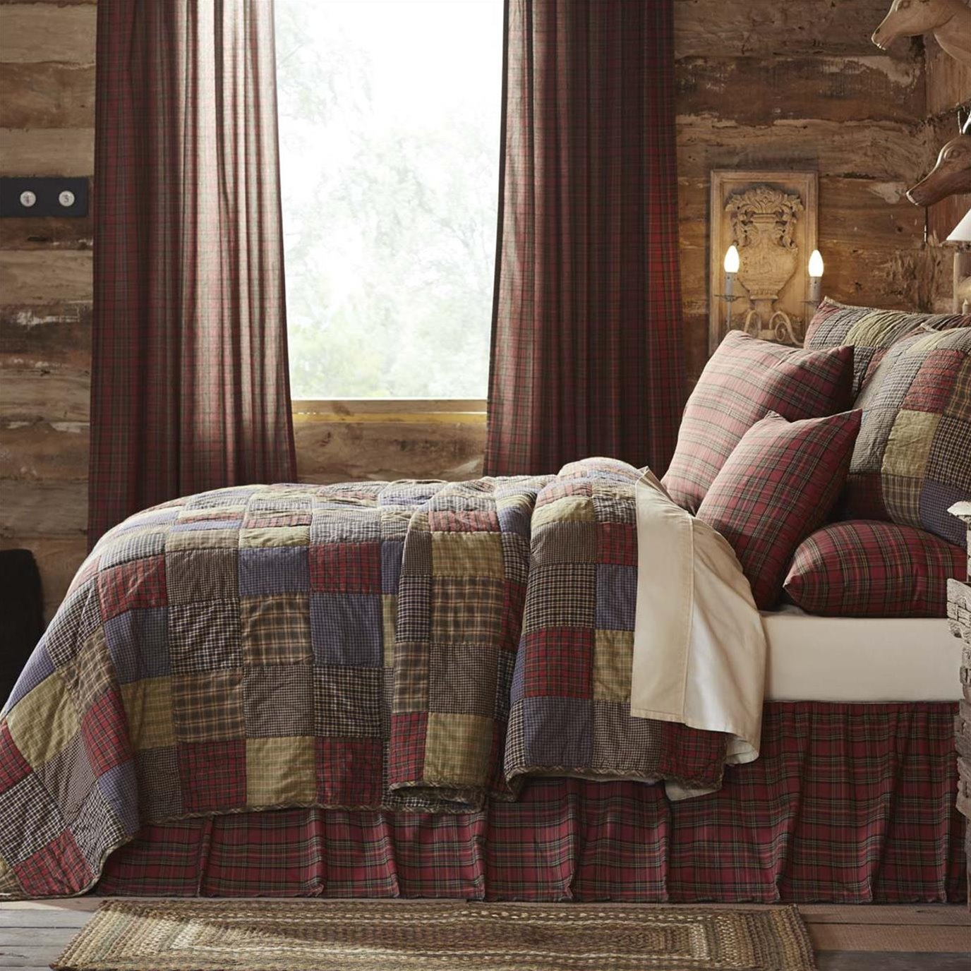 Cedar Ridge Twin Set; 1-Quilt 86x68 w/1 Sham 21x27
