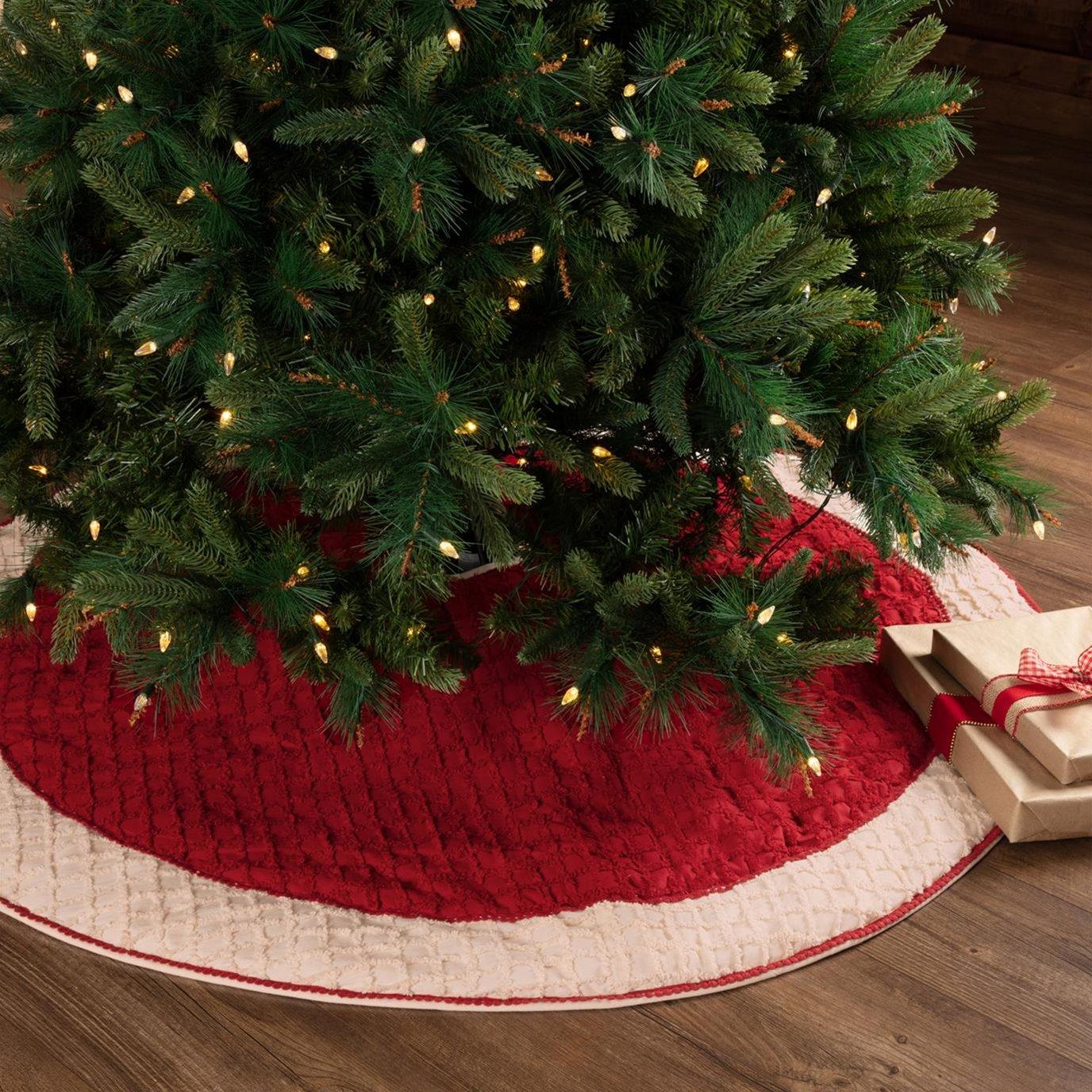 Chenille Christmas Tree Skirt 55