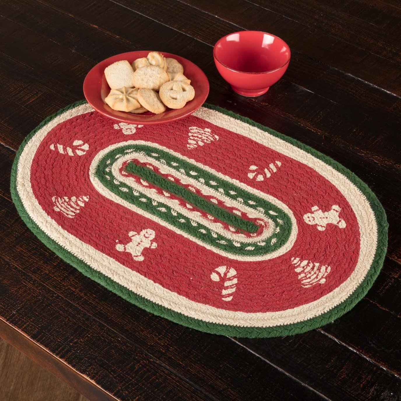 Christmas Cookies Placemat Set of 6 12x18