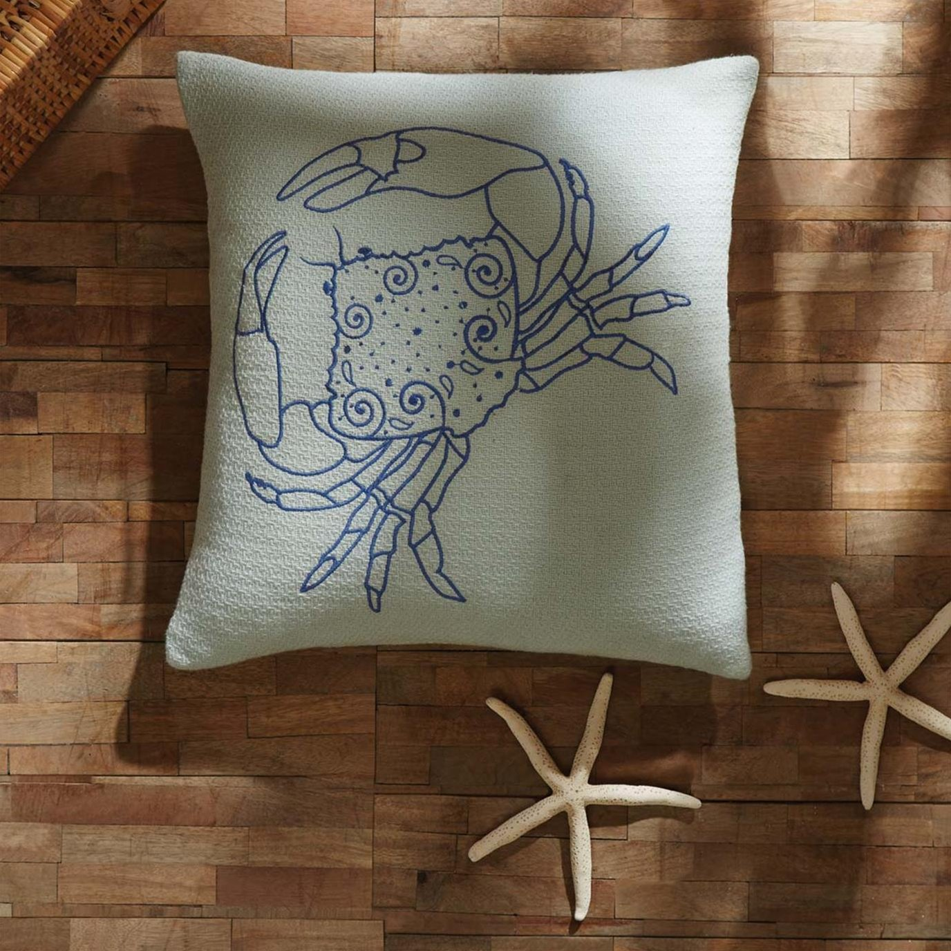 Crab Pillow Cover 18x18