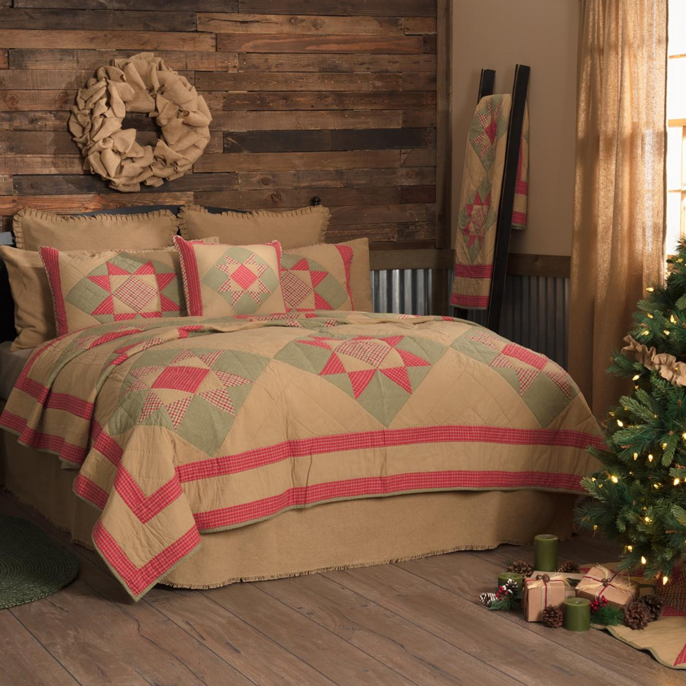 Dolly Star King Quilt 105Wx95L