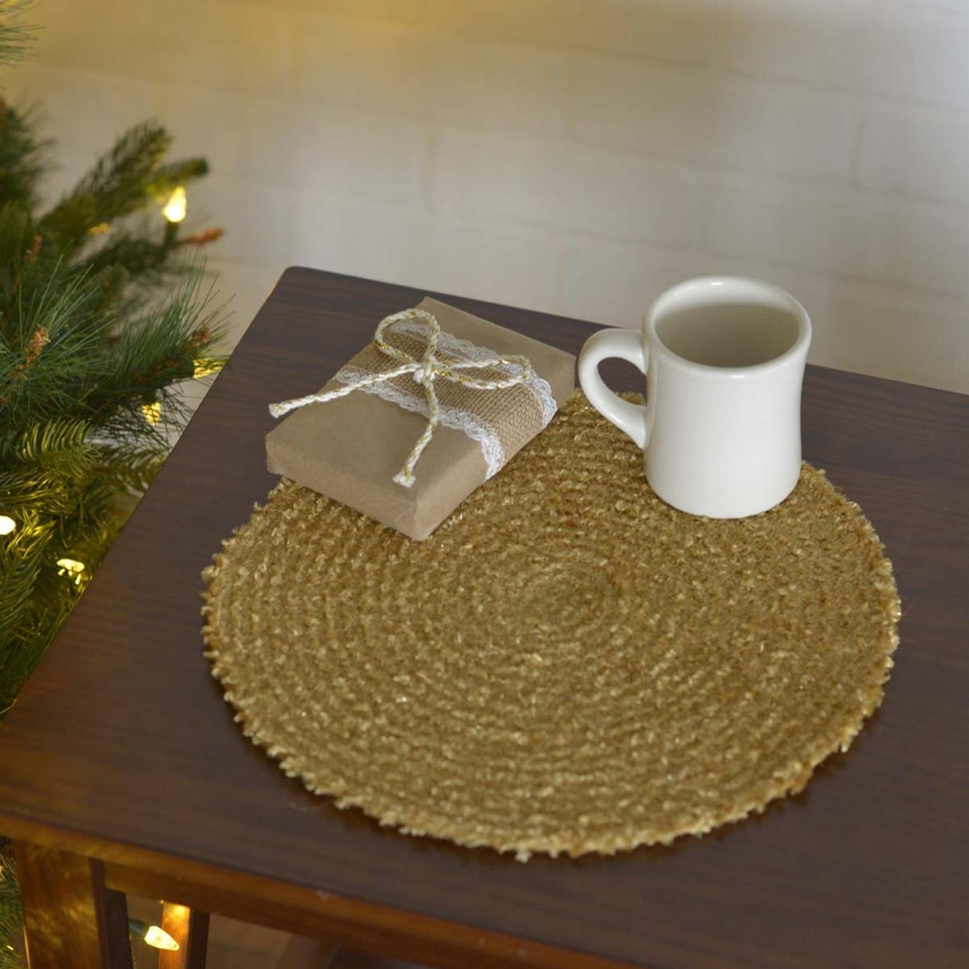 """Dyani Gold 13"""" Tablemat Set of 6"""