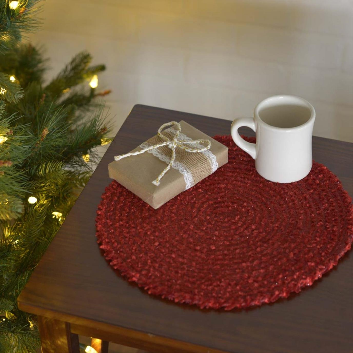 """Dyani Red 13"""" Tablemat Set of 6"""