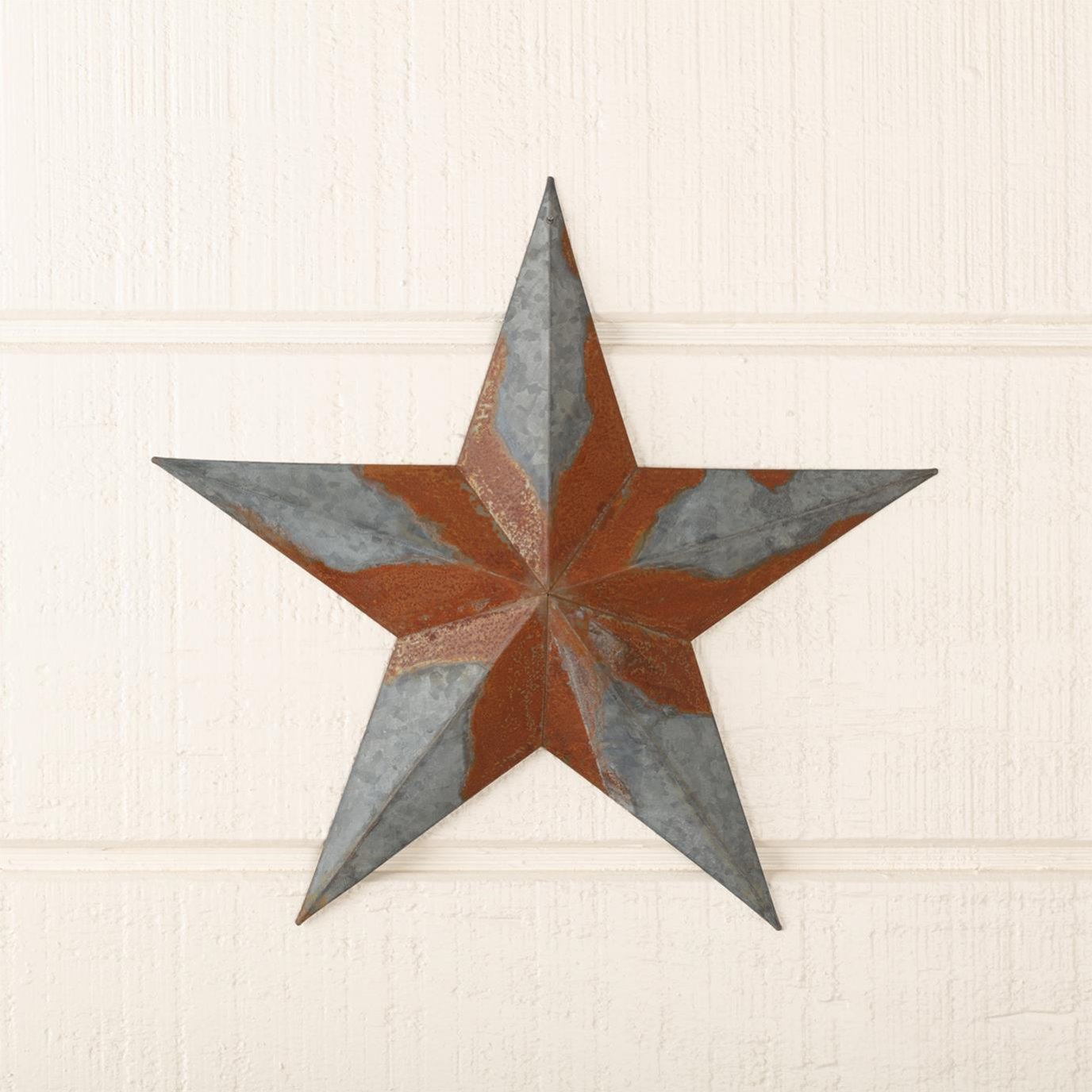 Galvanized Star Wall Hanging 12in