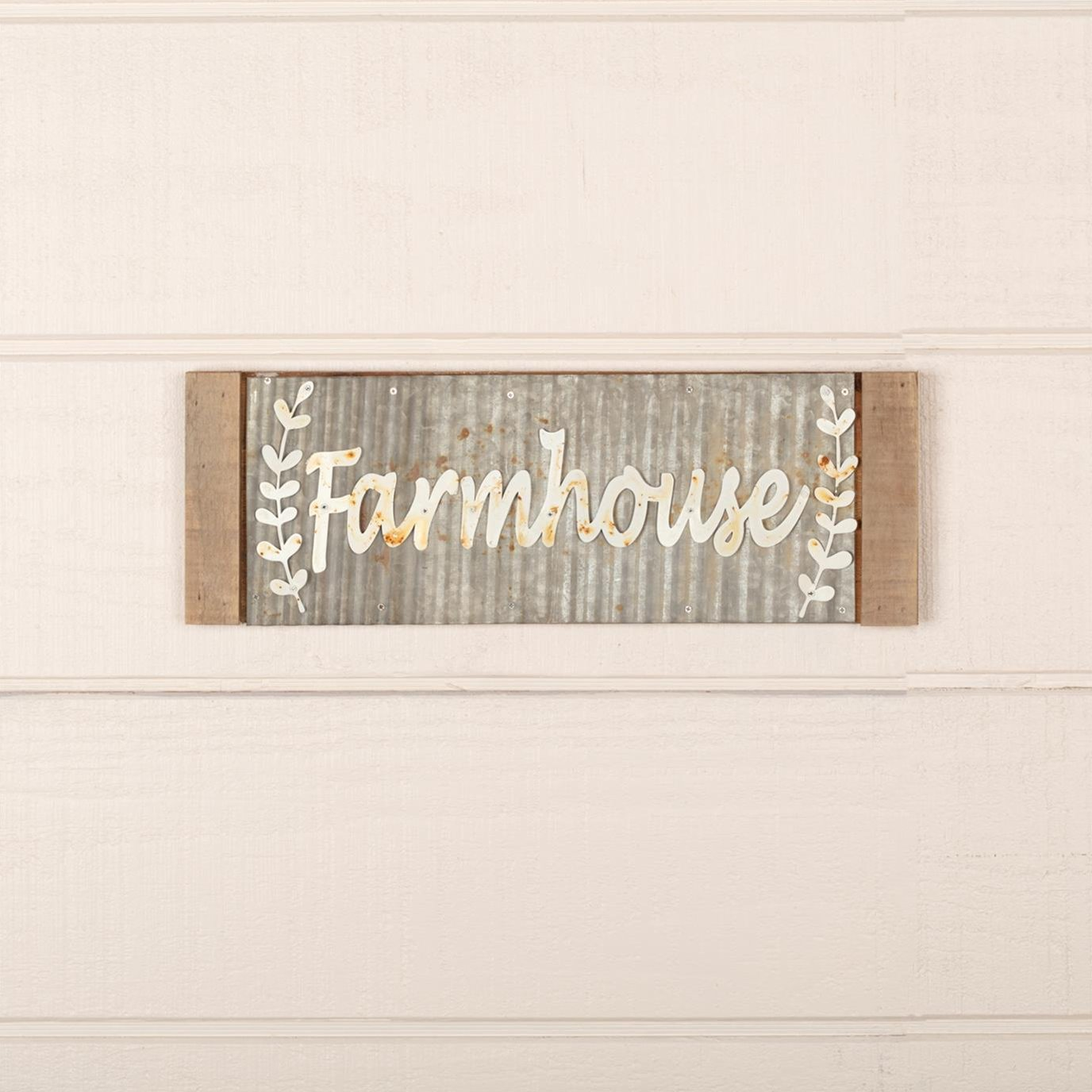 Galvanized Metal Farmhouse Sign 17x6