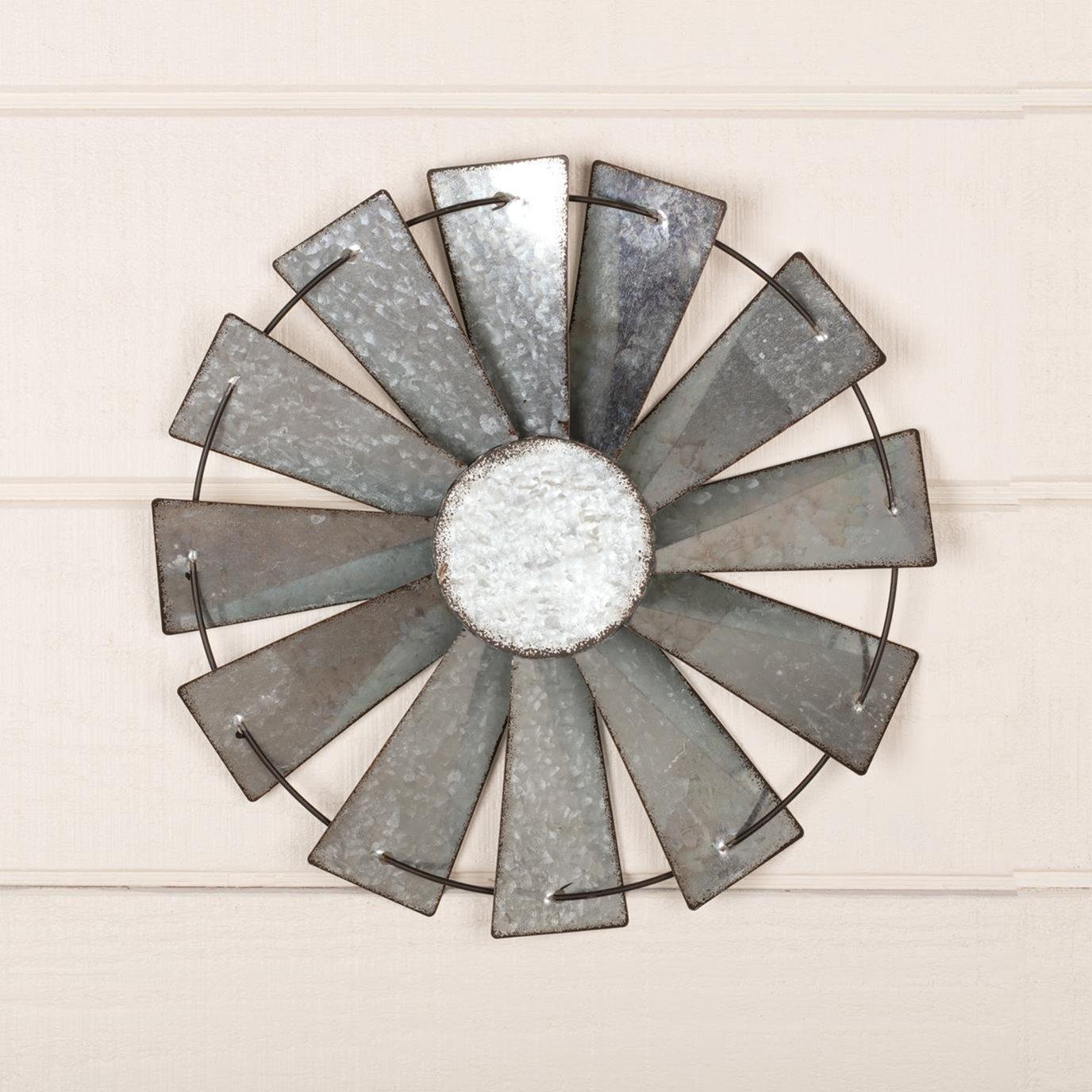 Windmill Blade Metal Wall Hanging 16in