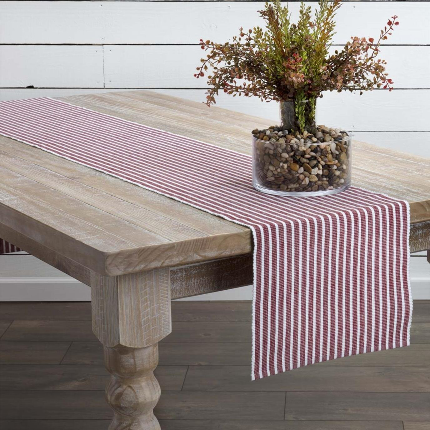 Harmony Red Ribbed Runner 13x90