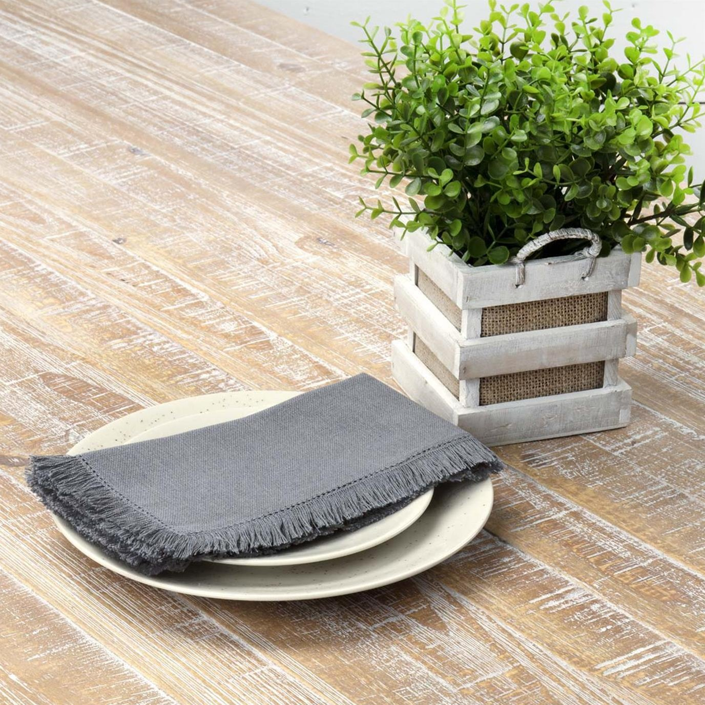 Haven Medium Grey Napkin Set of 6 18x18