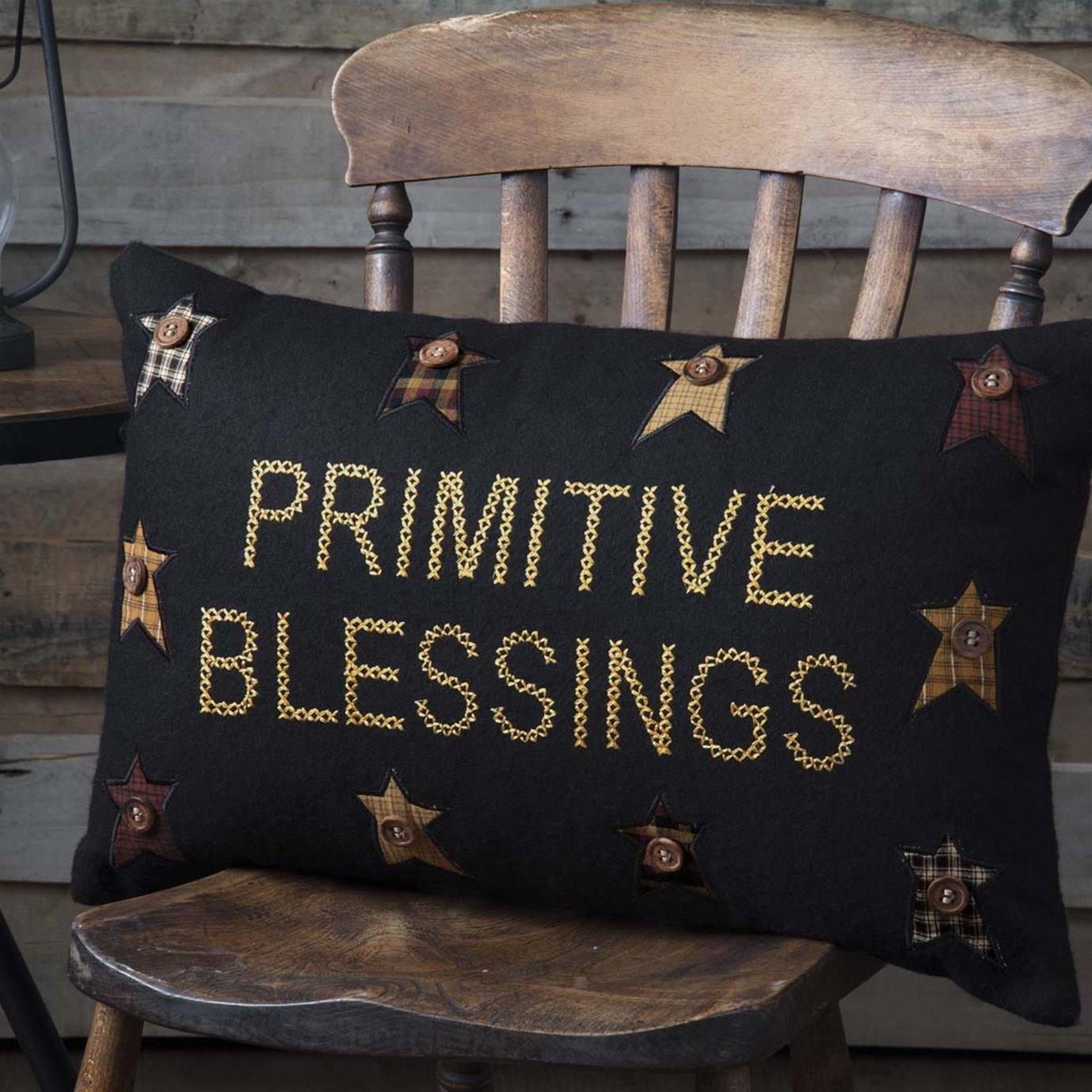 Heritage Farms Primitive Blessings Pillow 14x22