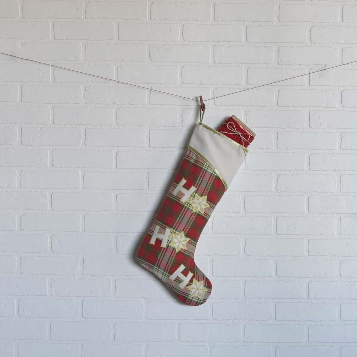 HO HO Holiday Stocking 11x20