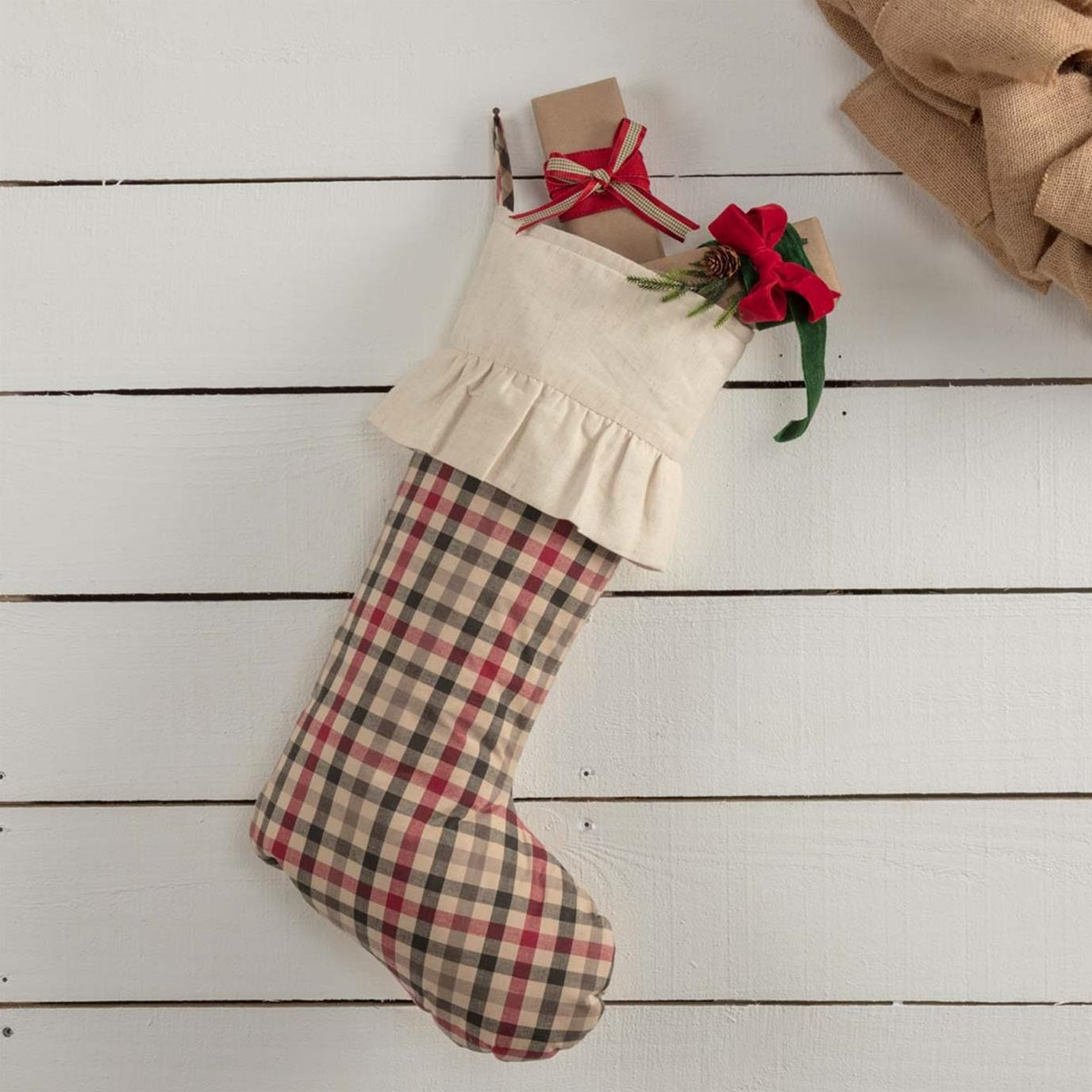 Hollis Plaid Stocking 12x20
