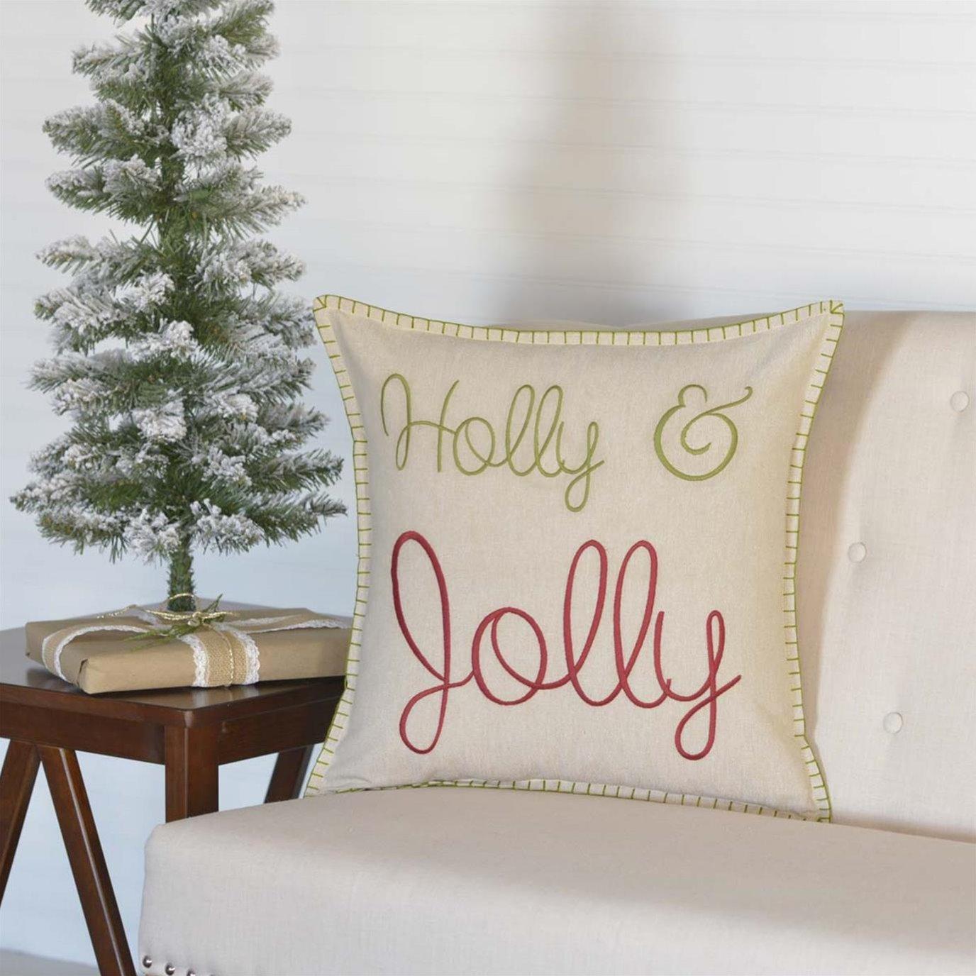Holly & Jolly Pillow 18x18