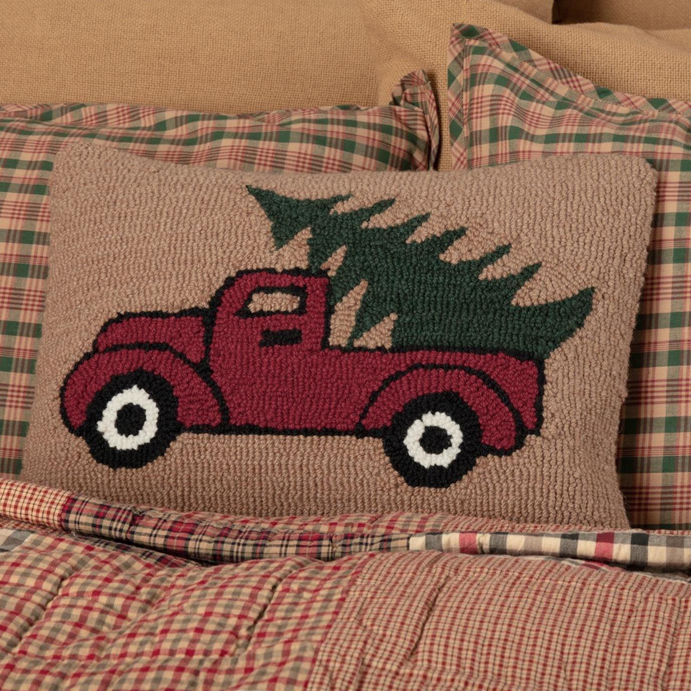 Hooked Truck Pillow 14x18