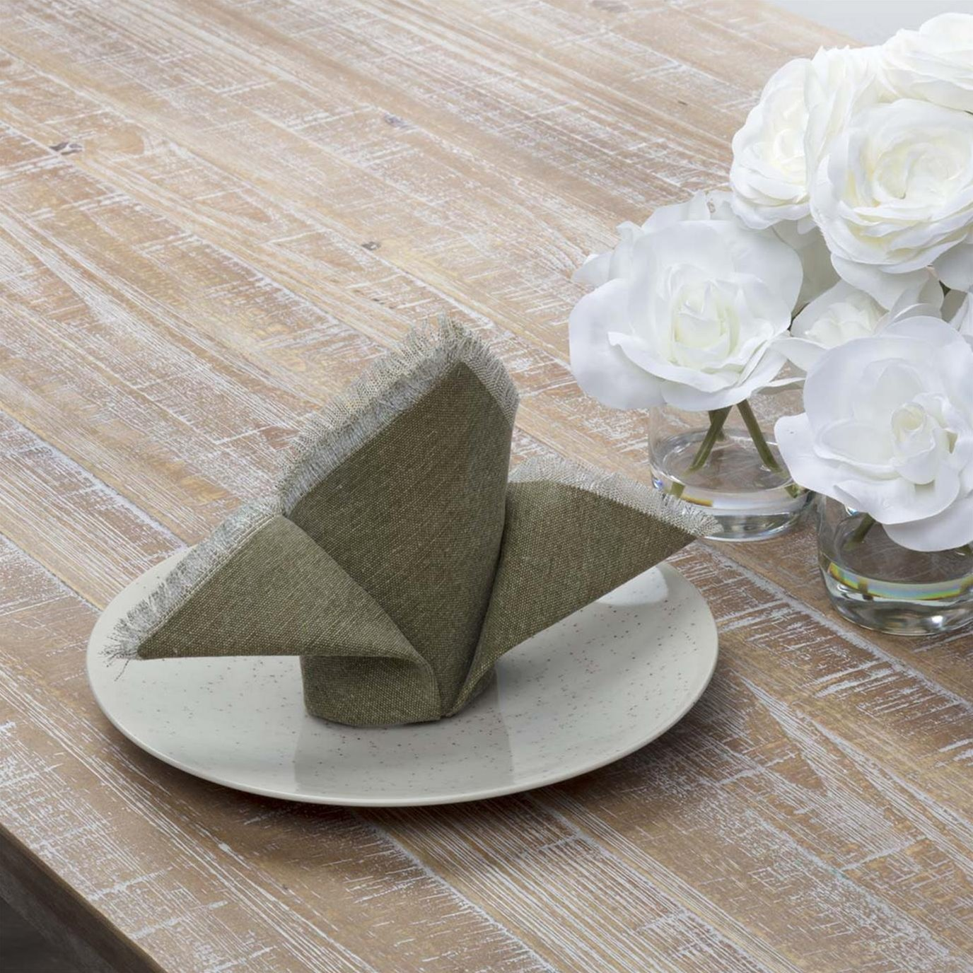 Jade Olive Napkin Set of 6 18x18