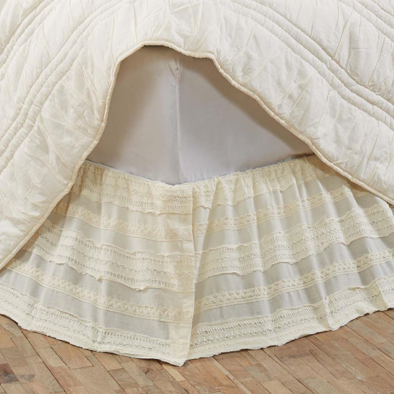 Jasmine Creme King Bed Skirt 78x80x16