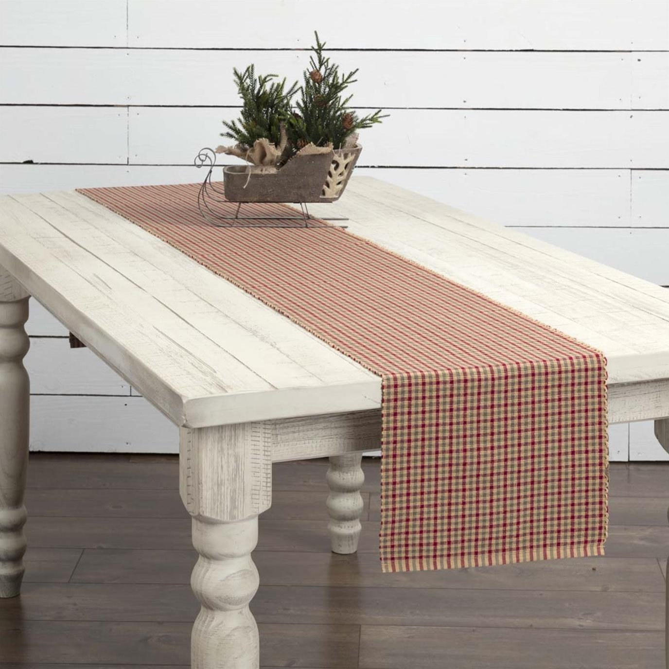 Jonathan Plaid Ribbed Runner 13x90