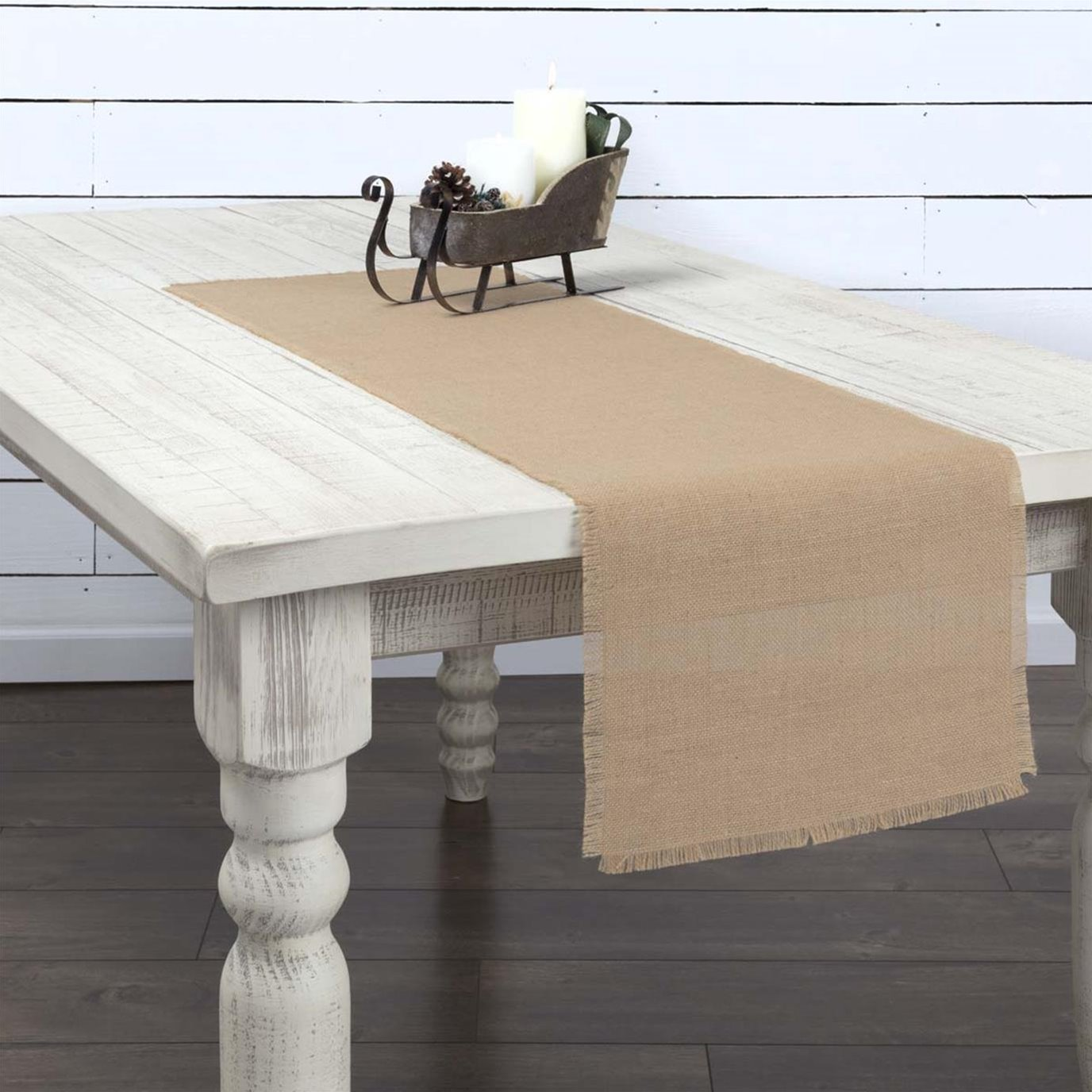Jute Burlap Natural Runner 13x48